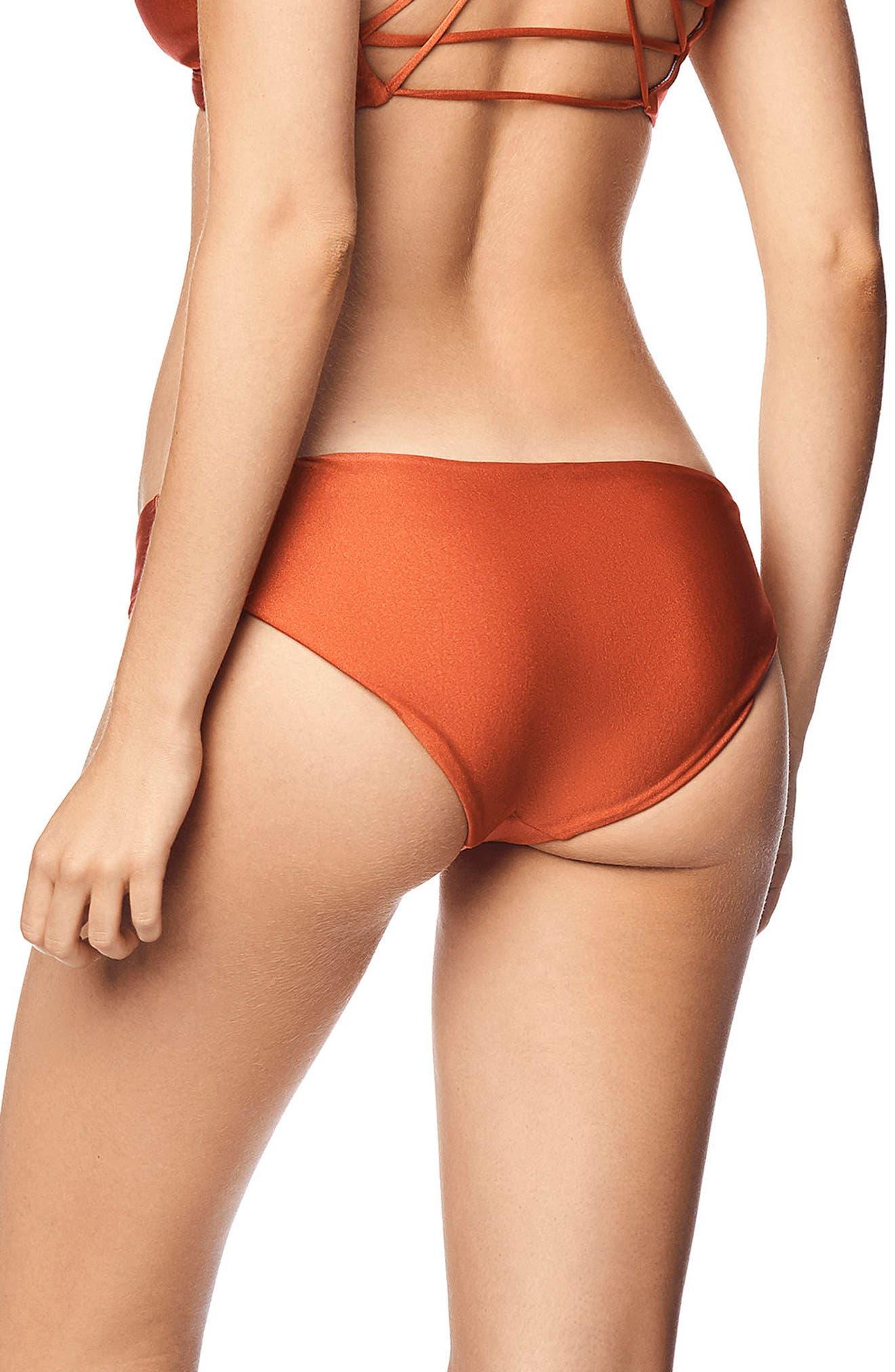 Shimmering Sublime Reversible Bikini Bottoms,                             Alternate thumbnail 2, color,                             CHESTNUT