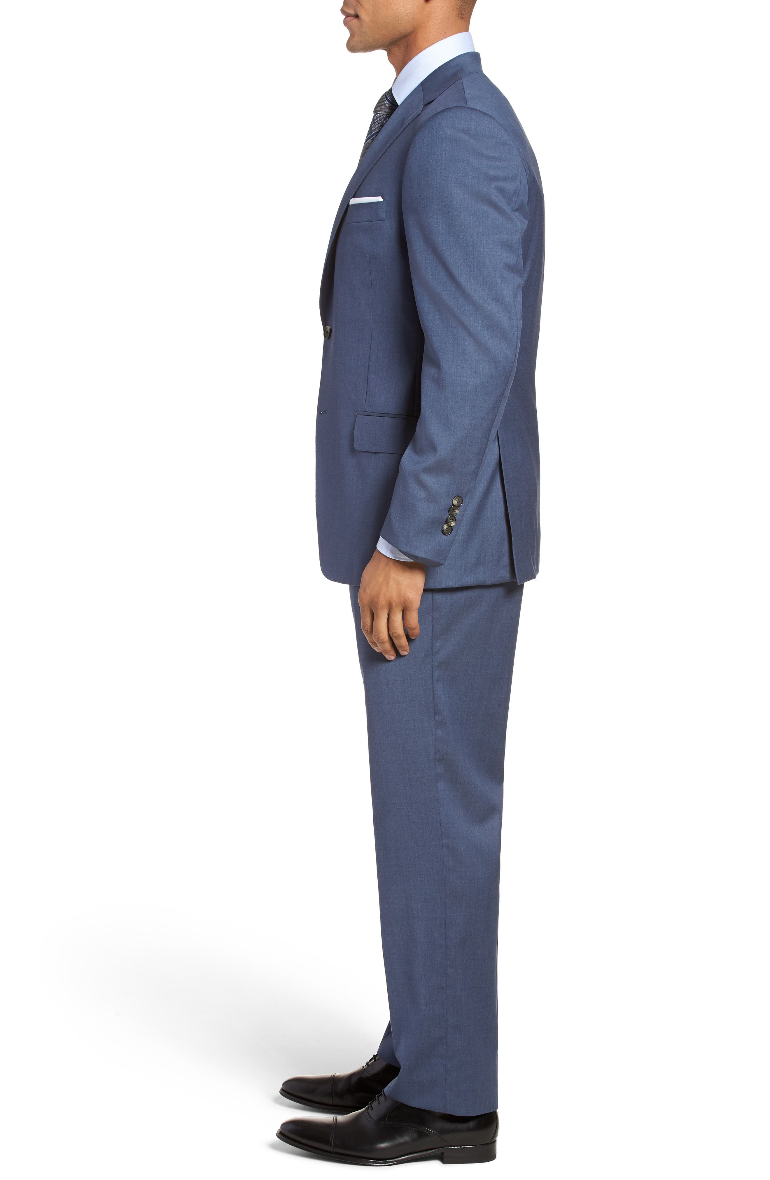 Classic B Fit Solid Wool Suit,                             Alternate thumbnail 3, color,                             499