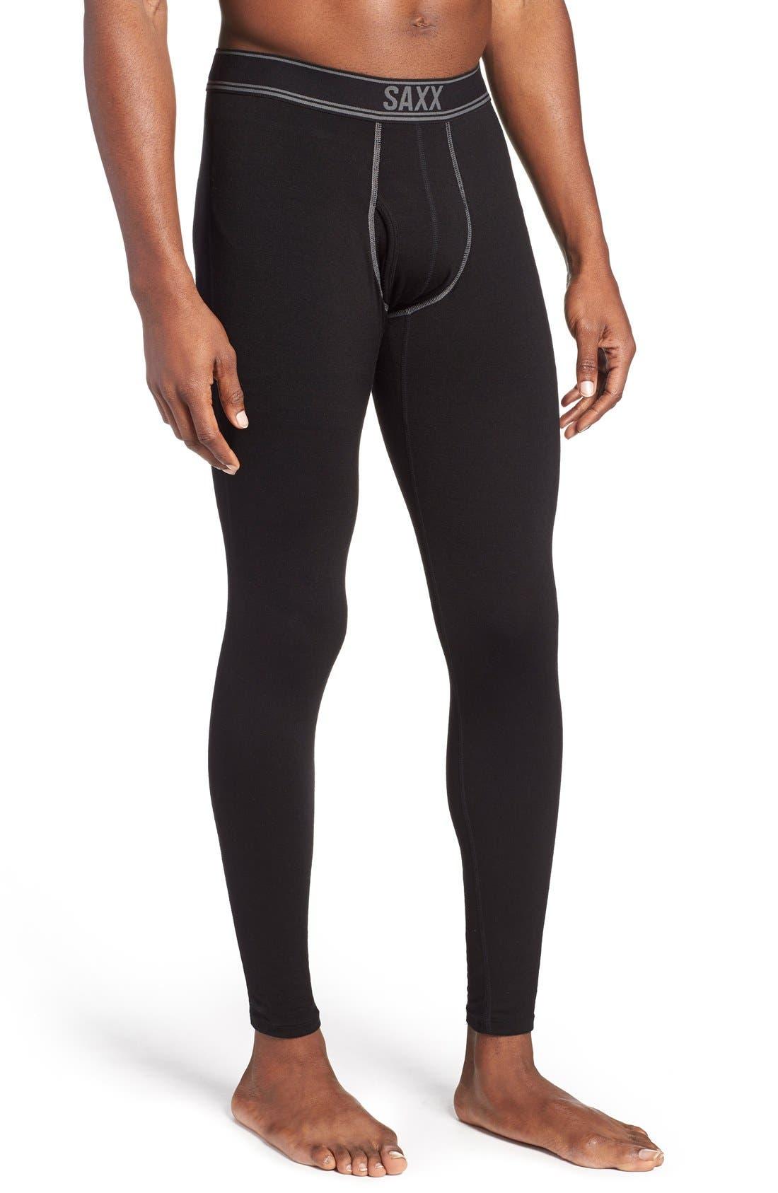 SAXX,                             'Black Sheep' Moisture Wicking Long Underwear,                             Main thumbnail 1, color,                             019