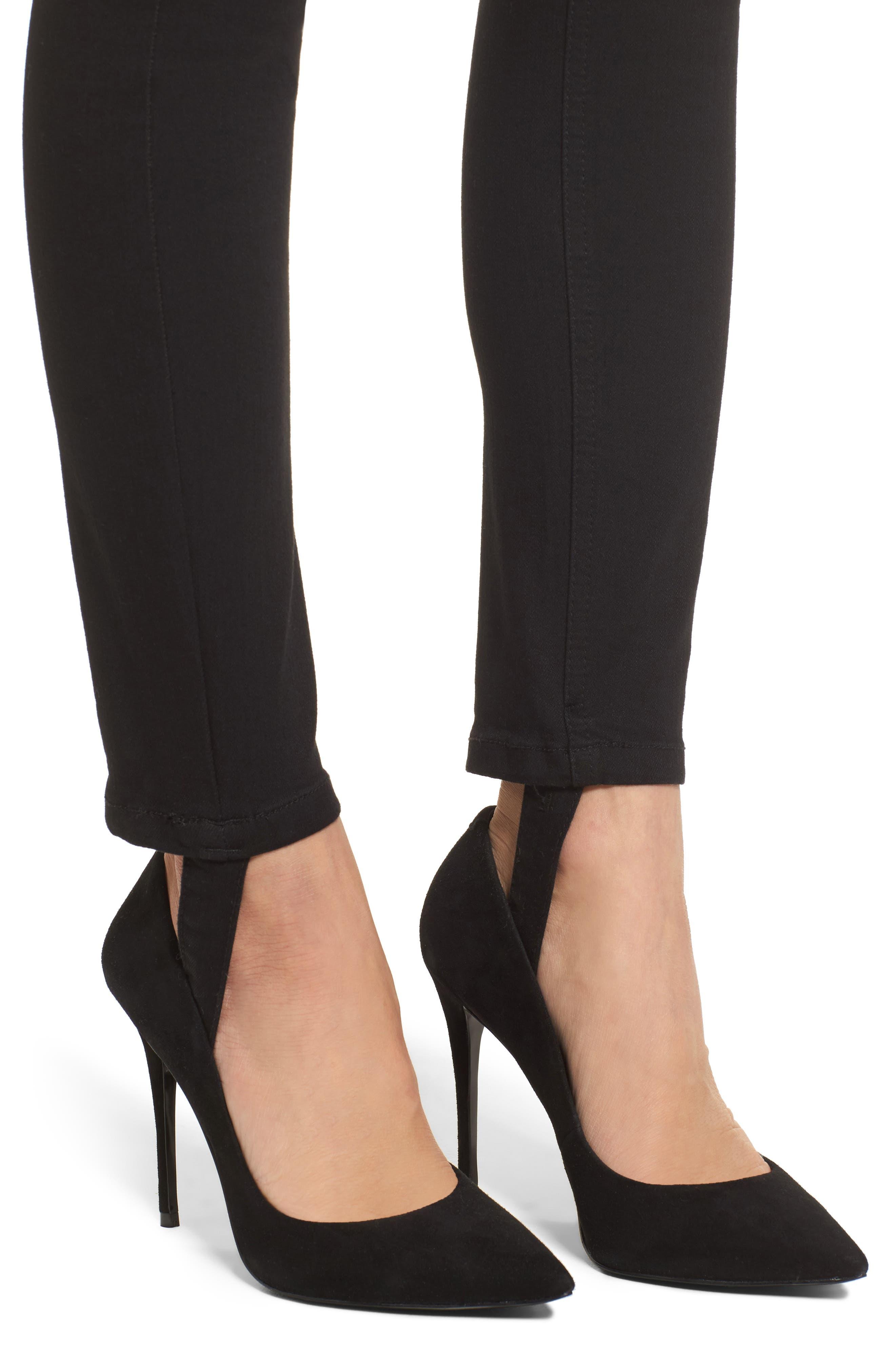 Luma High Waist Skinny Stirrup Jeans,                             Alternate thumbnail 4, color,                             002