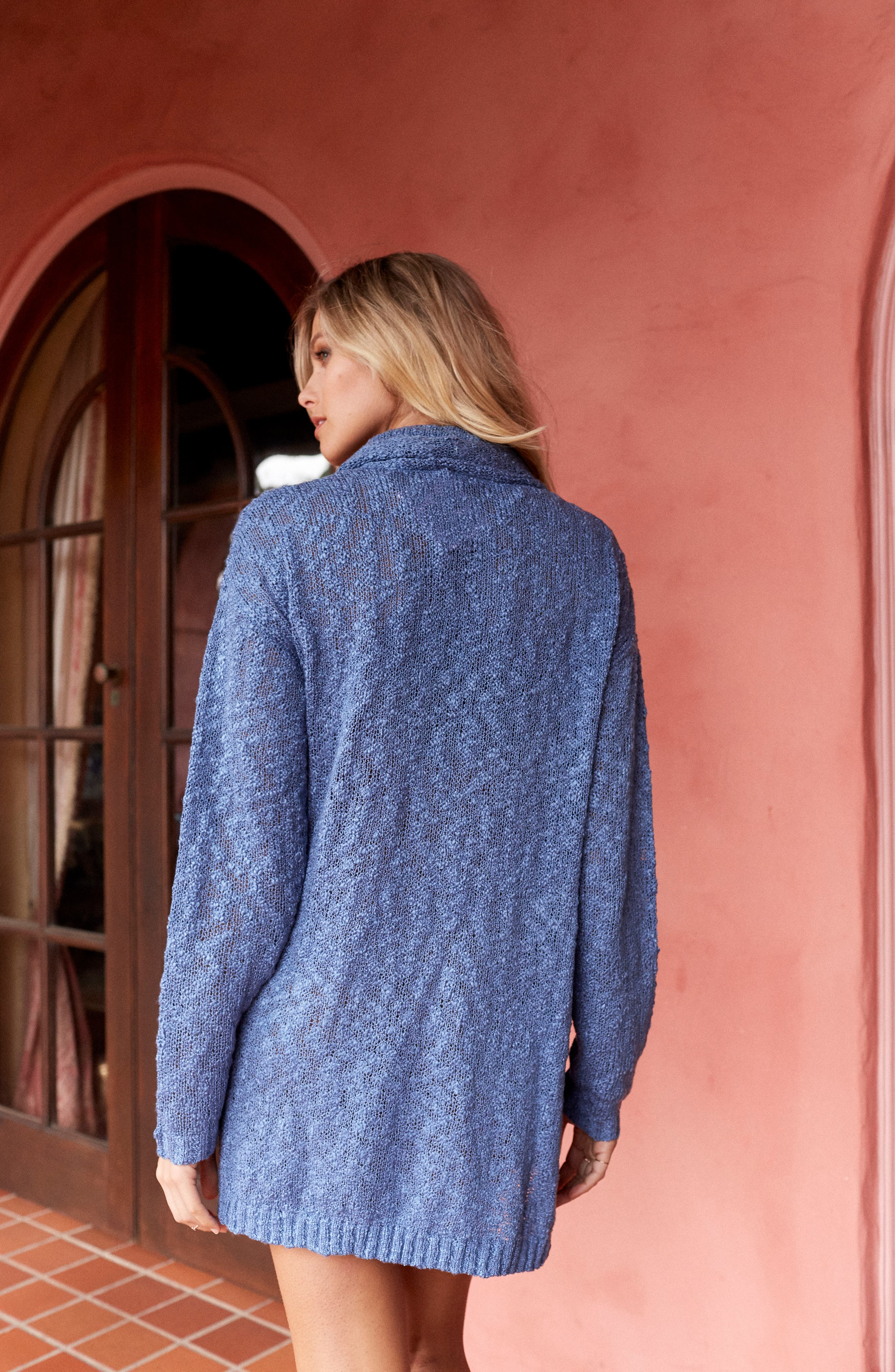 Fading Light Cowl Neck Sweater Dress,                             Alternate thumbnail 8, color,                             401