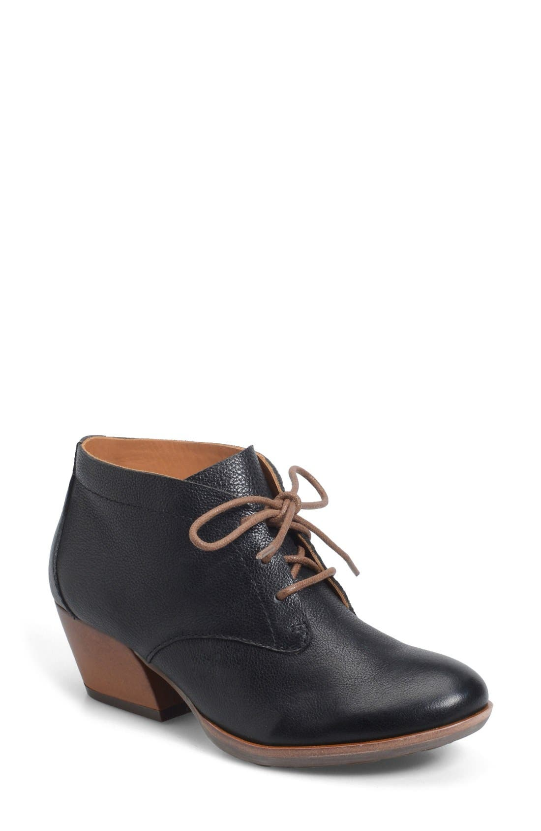 'Helene' Leather Bootie,                             Main thumbnail 1, color,                             001