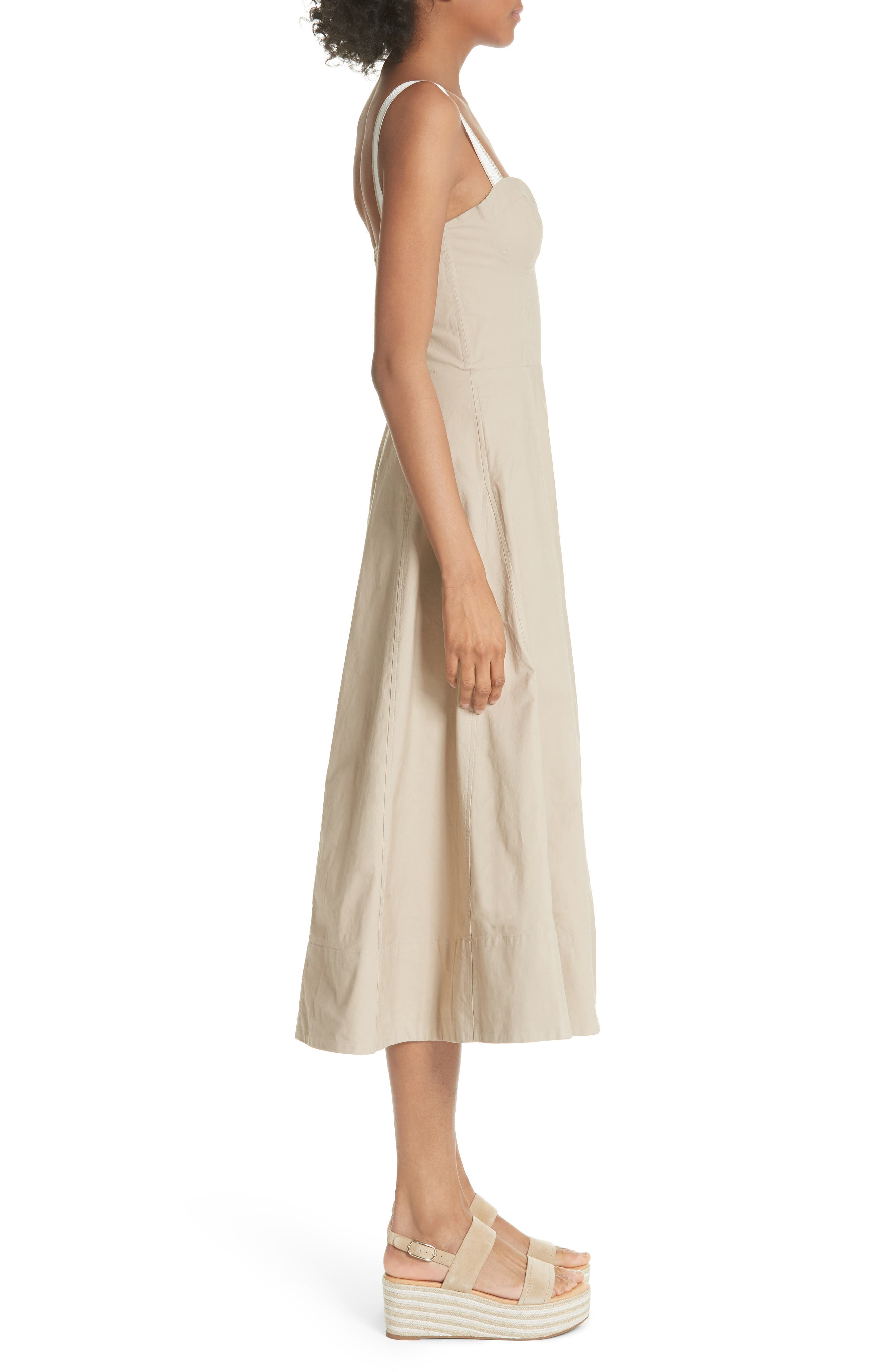 Briel Midi Dress,                             Alternate thumbnail 3, color,                             253