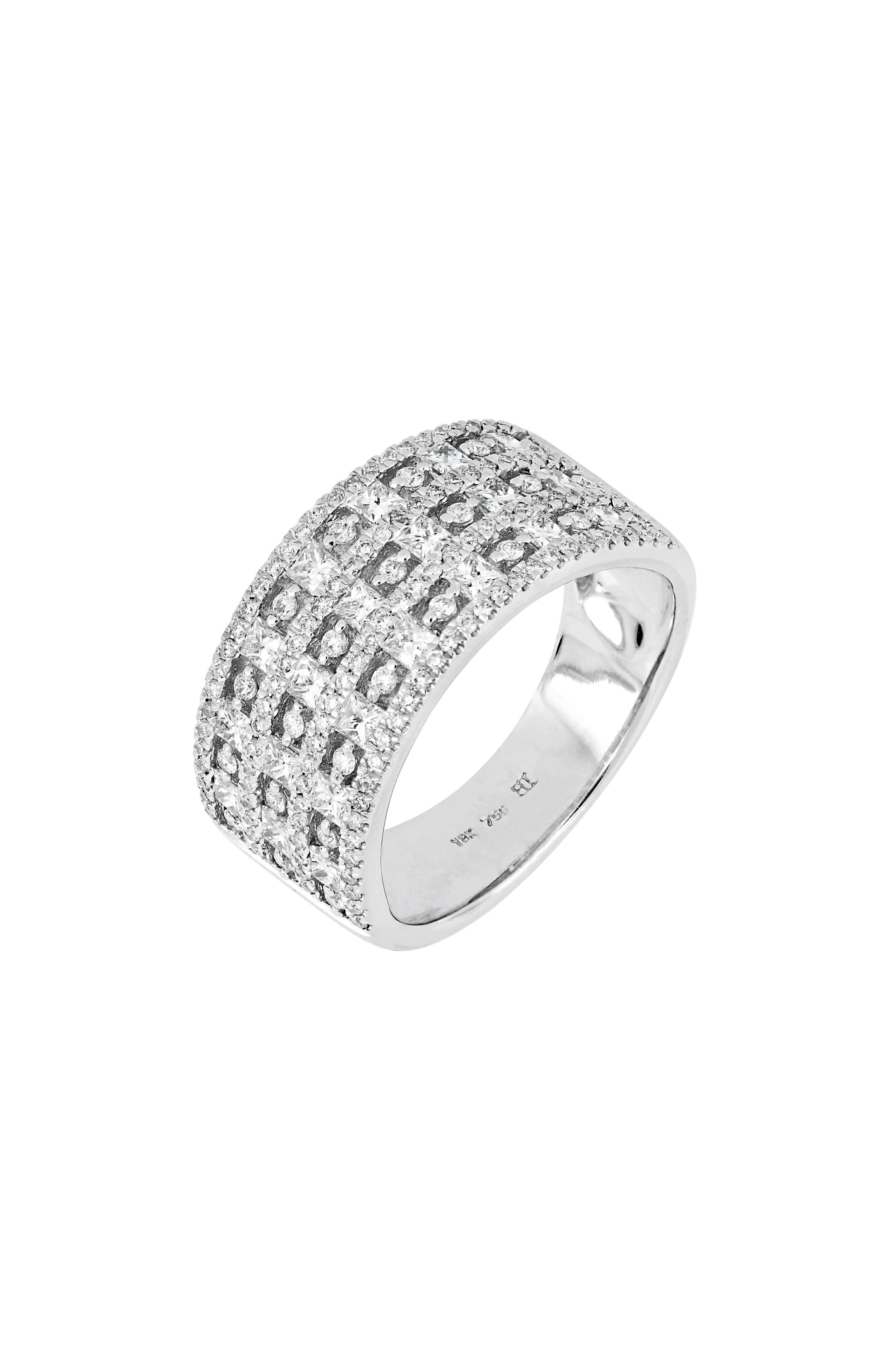 Diamond Band Ring,                         Main,                         color, WHITE GOLD