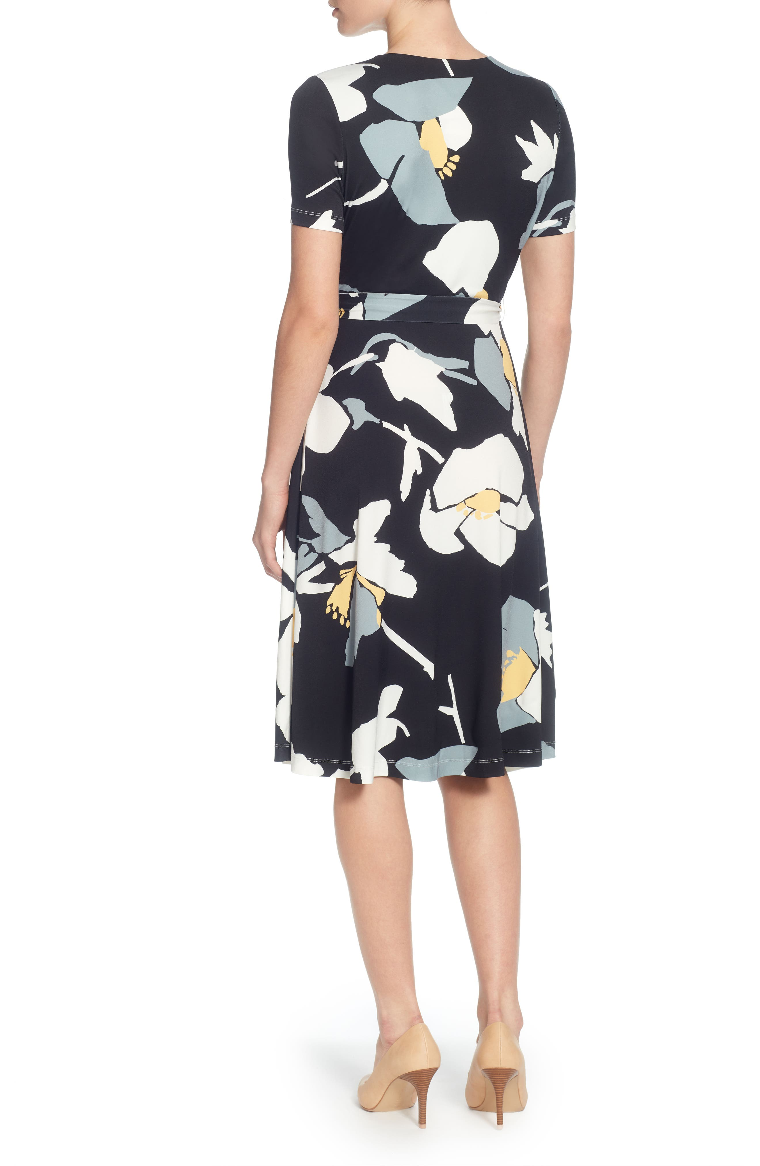 Taral Floral Faux Wrap Dress,                             Alternate thumbnail 2, color,