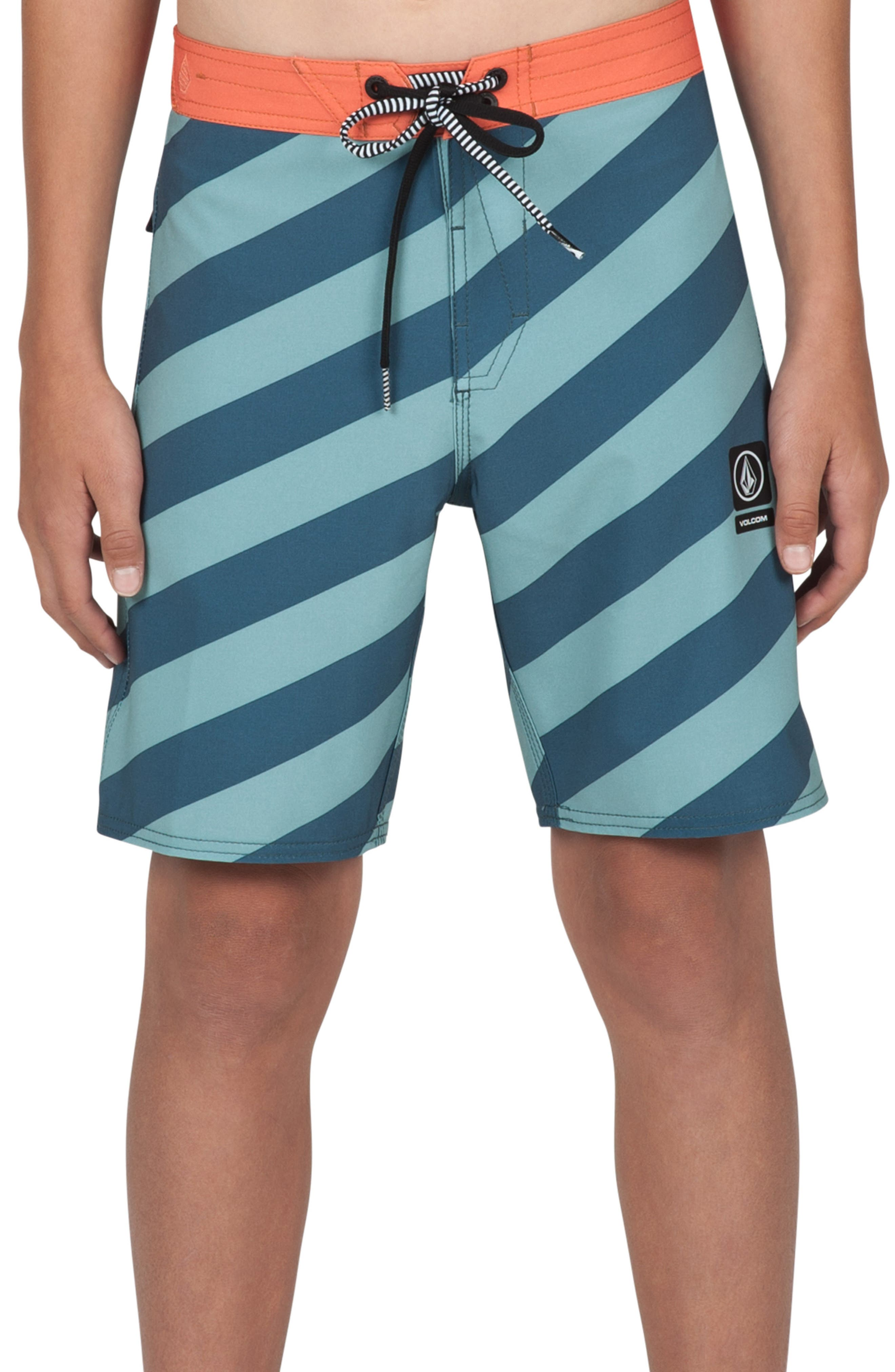 Stripey Jammer Board Shorts,                             Main thumbnail 7, color,