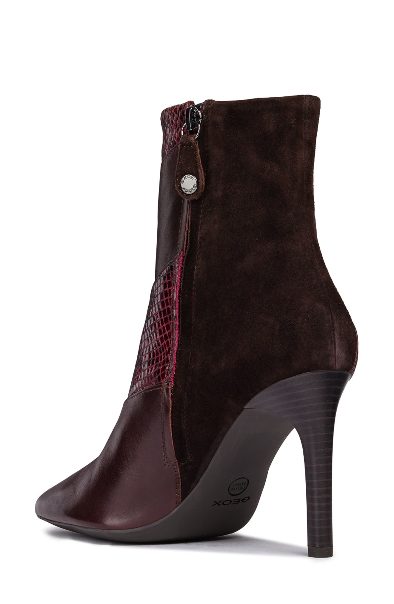Faviola Bootie,                             Alternate thumbnail 2, color,                             DARK BURGUNDY LEATHER
