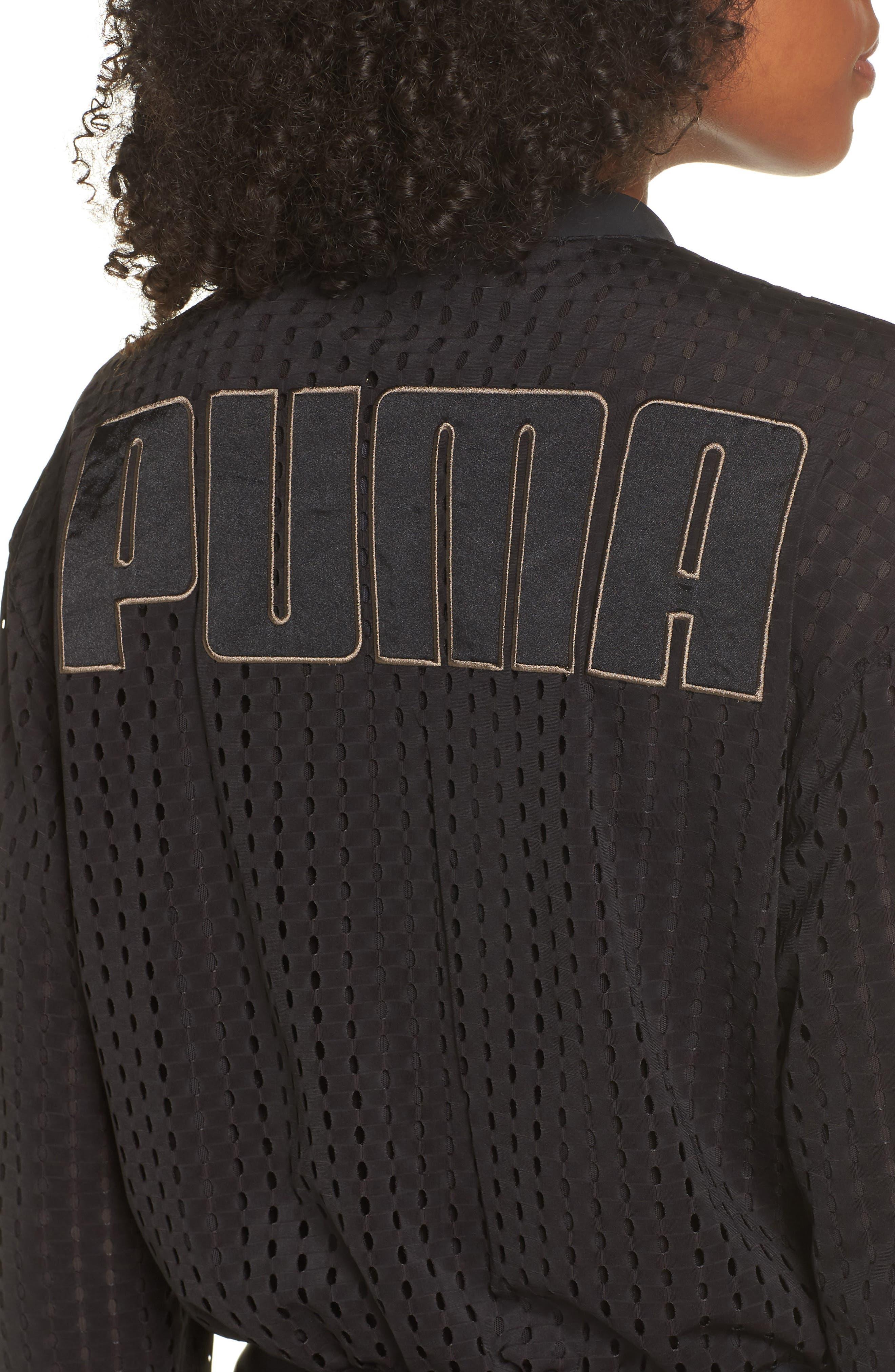 Luxe Jacket,                             Alternate thumbnail 4, color,                             PUMA BLACK
