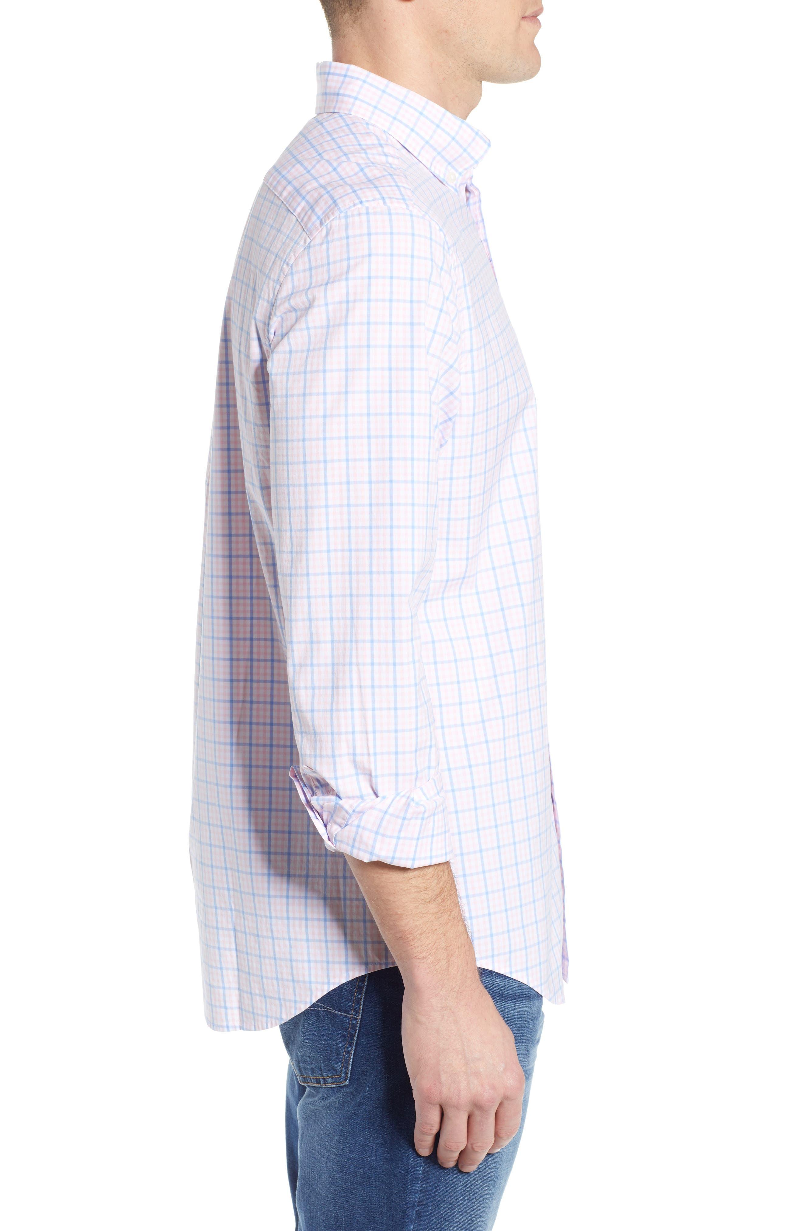 Murray Classic Fit Check Sport Shirt,                             Alternate thumbnail 4, color,                             FLAMINGO