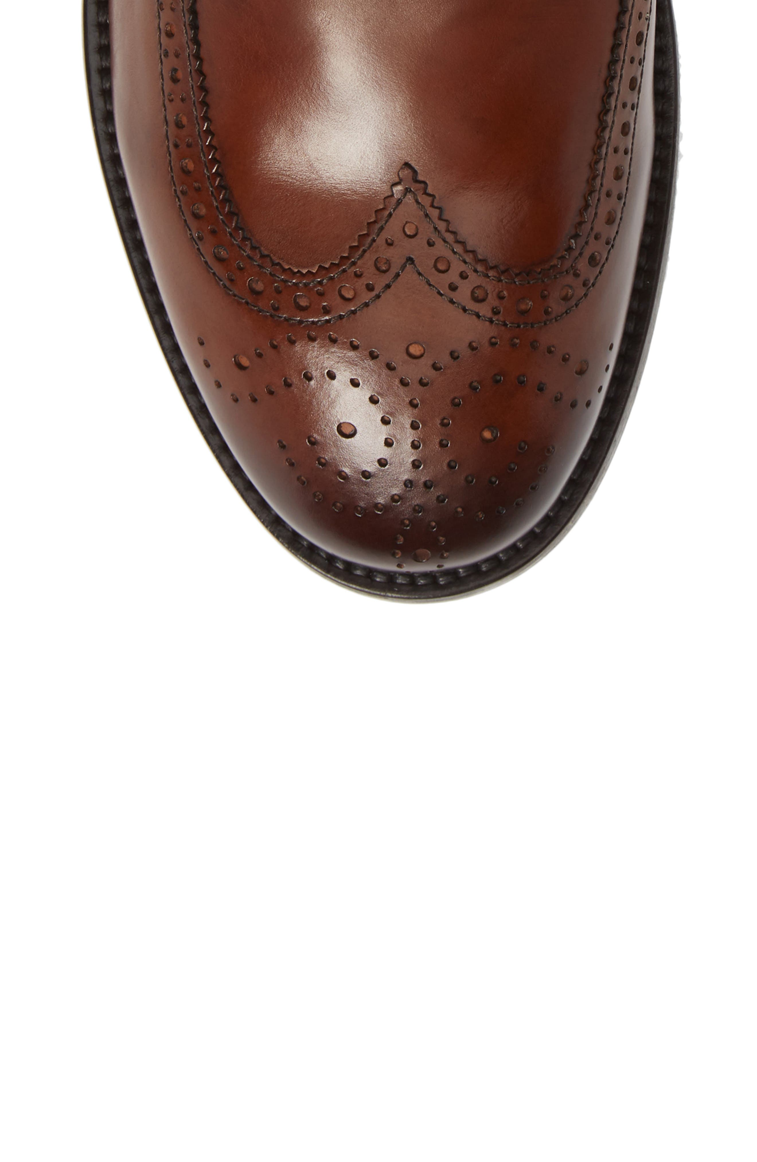 Auckland Wingtip Boot,                             Alternate thumbnail 5, color,                             BROWN LEATHER