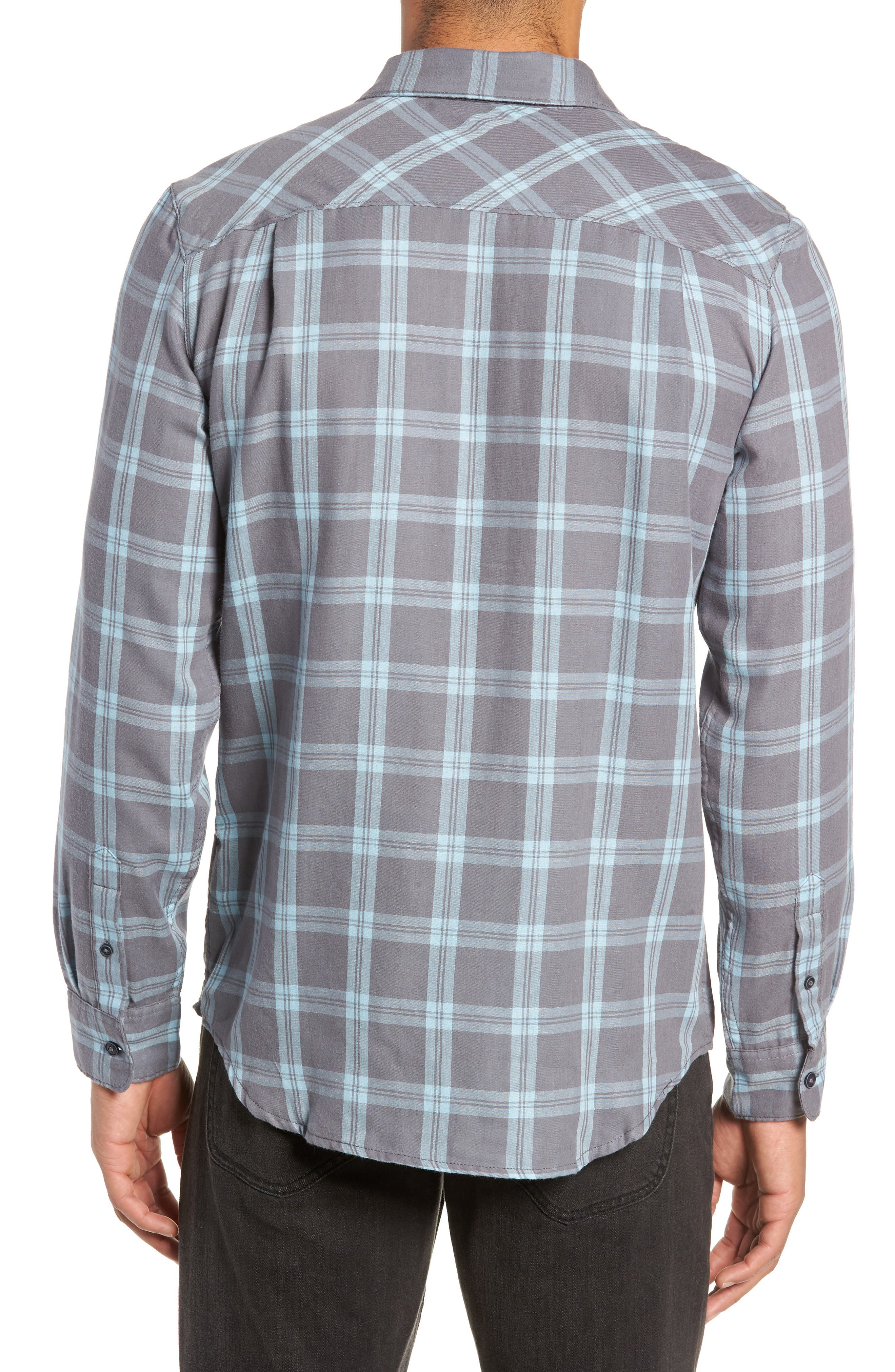 Thomas Regular Fit Check Sport Shirt,                             Alternate thumbnail 3, color,                             QUITE SHADE