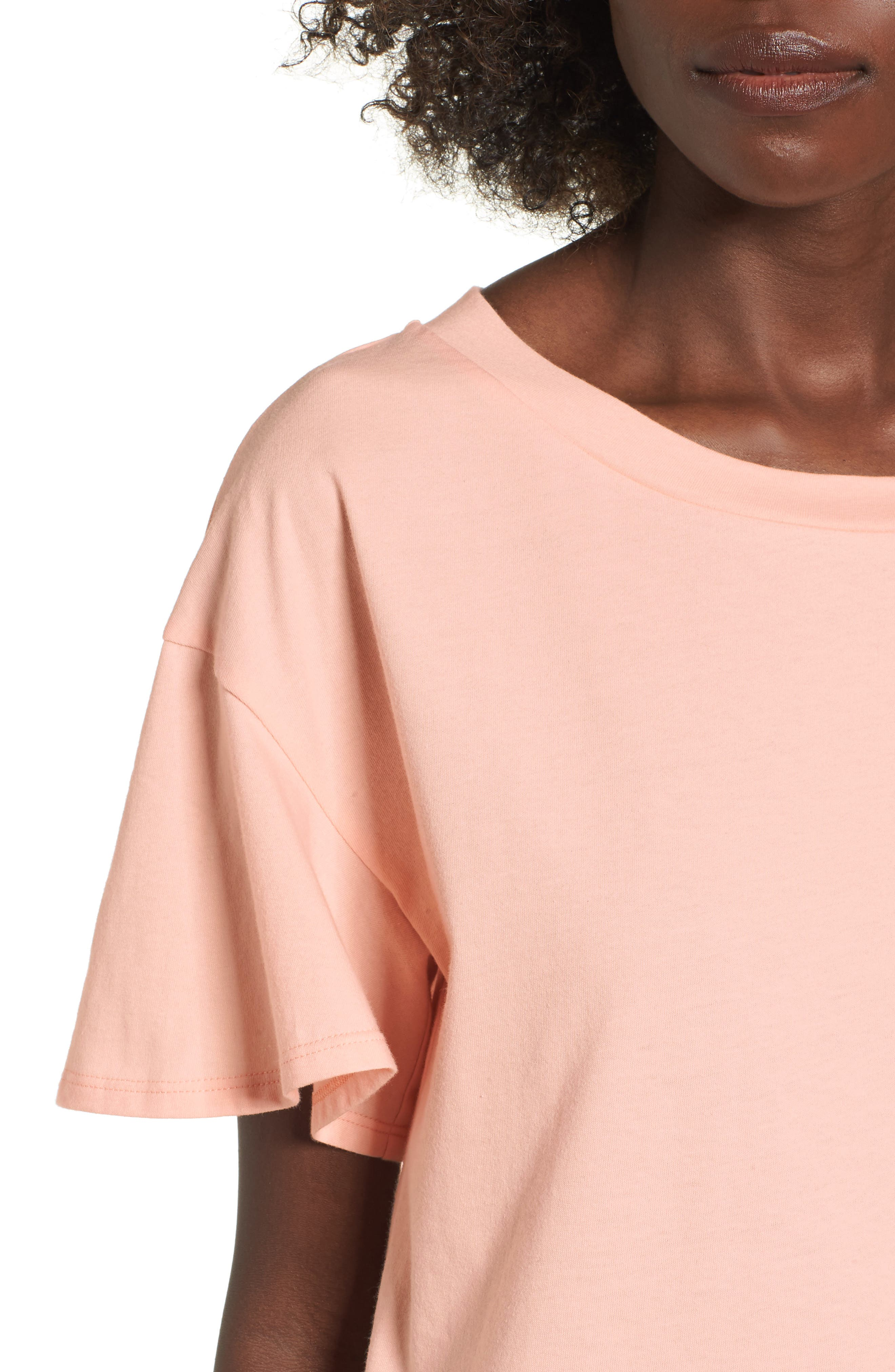 Flutter Sleeve Tee,                             Alternate thumbnail 12, color,