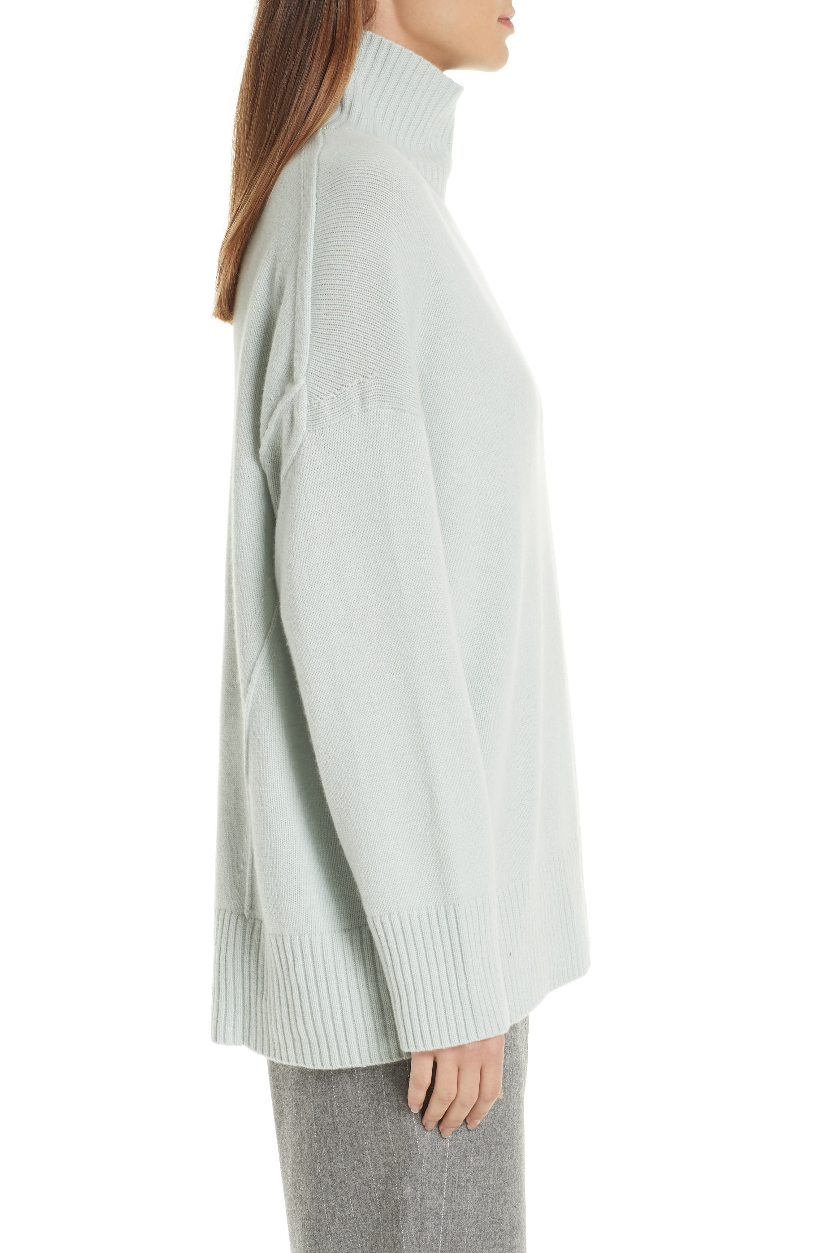 LAFAYETTE 148 NEW YORK,                             Relaxed Cashmere Turtleneck Sweater,                             Alternate thumbnail 3, color,                             400
