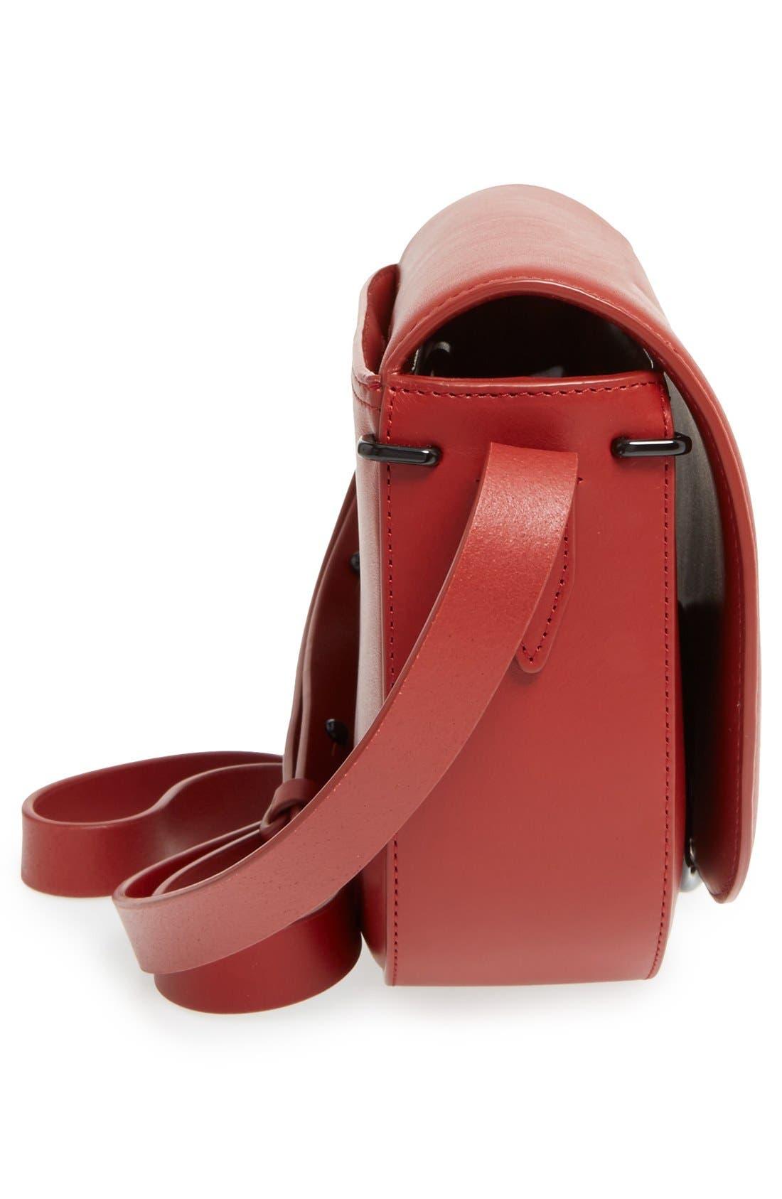 Alix Leather Saddle Bag,                             Alternate thumbnail 15, color,