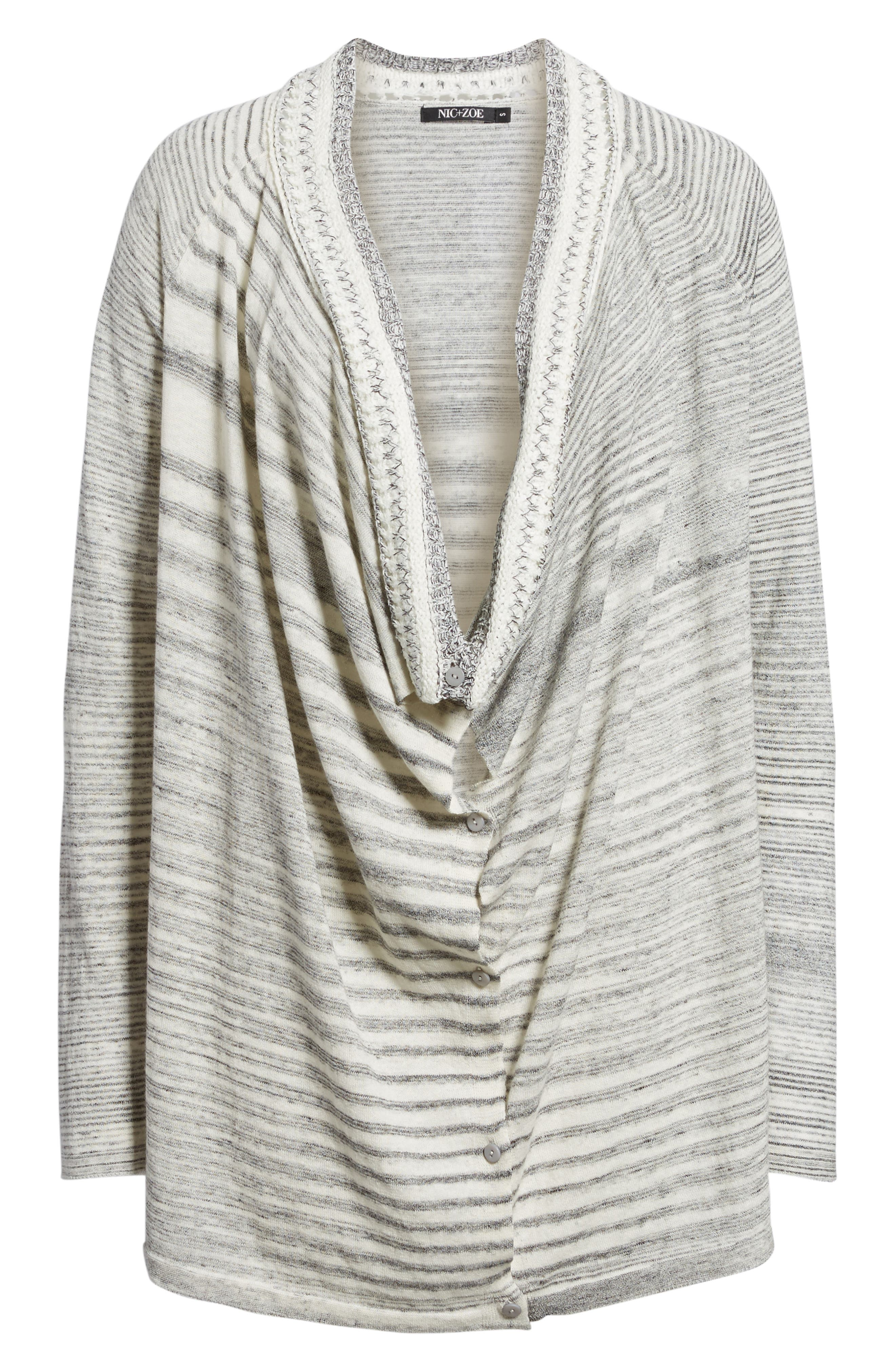 NIC + ZOE Time Change Cowl Neck Cardigan,                             Alternate thumbnail 6, color,                             050
