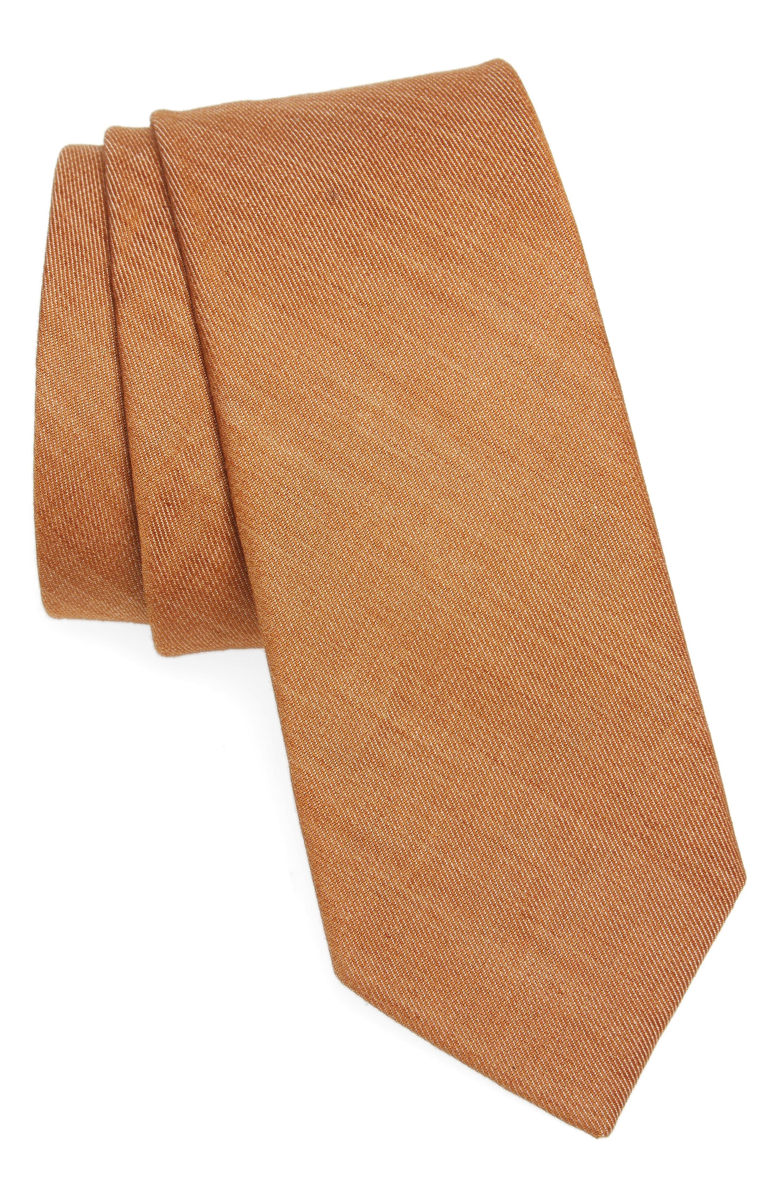 Abbey Solid Cotton Tie,                         Main,                         color, 220