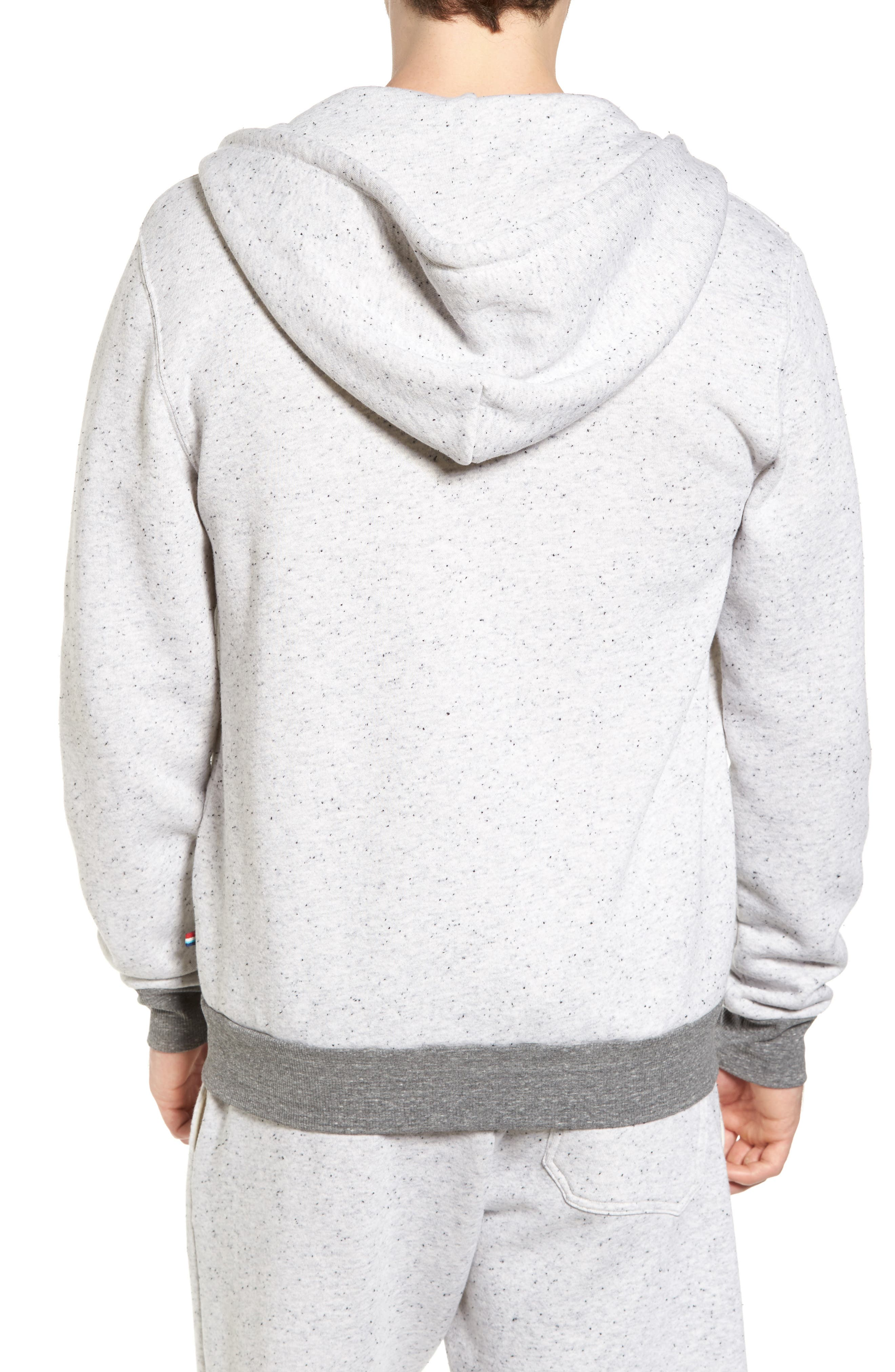 Peppered French Terry Hoodie,                             Alternate thumbnail 2, color,                             050