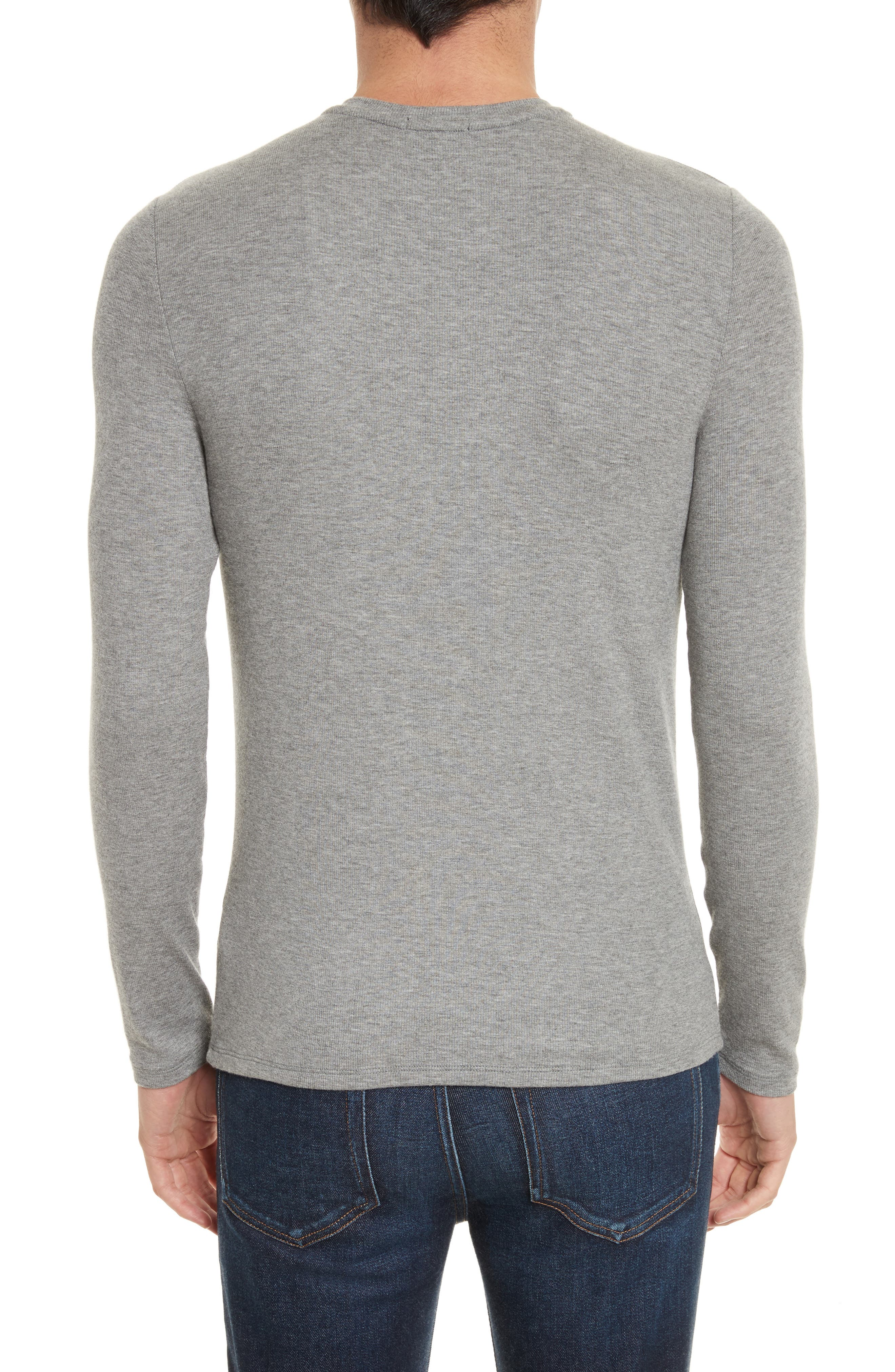 Long Sleeve Rib Henley,                             Alternate thumbnail 2, color,                             050