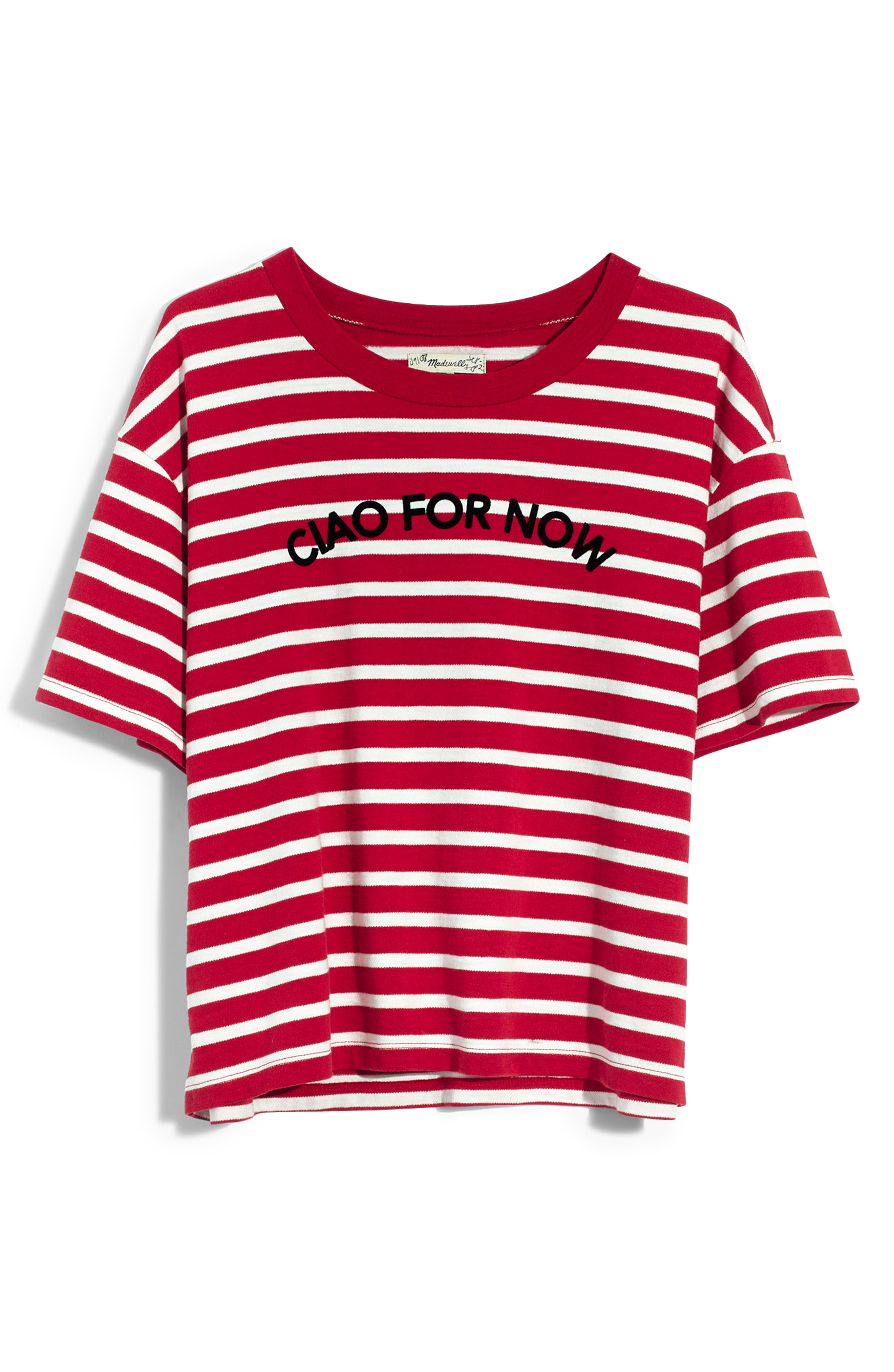 MADEWELL,                             Stripe Ciao for Now Tee,                             Alternate thumbnail 5, color,                             600