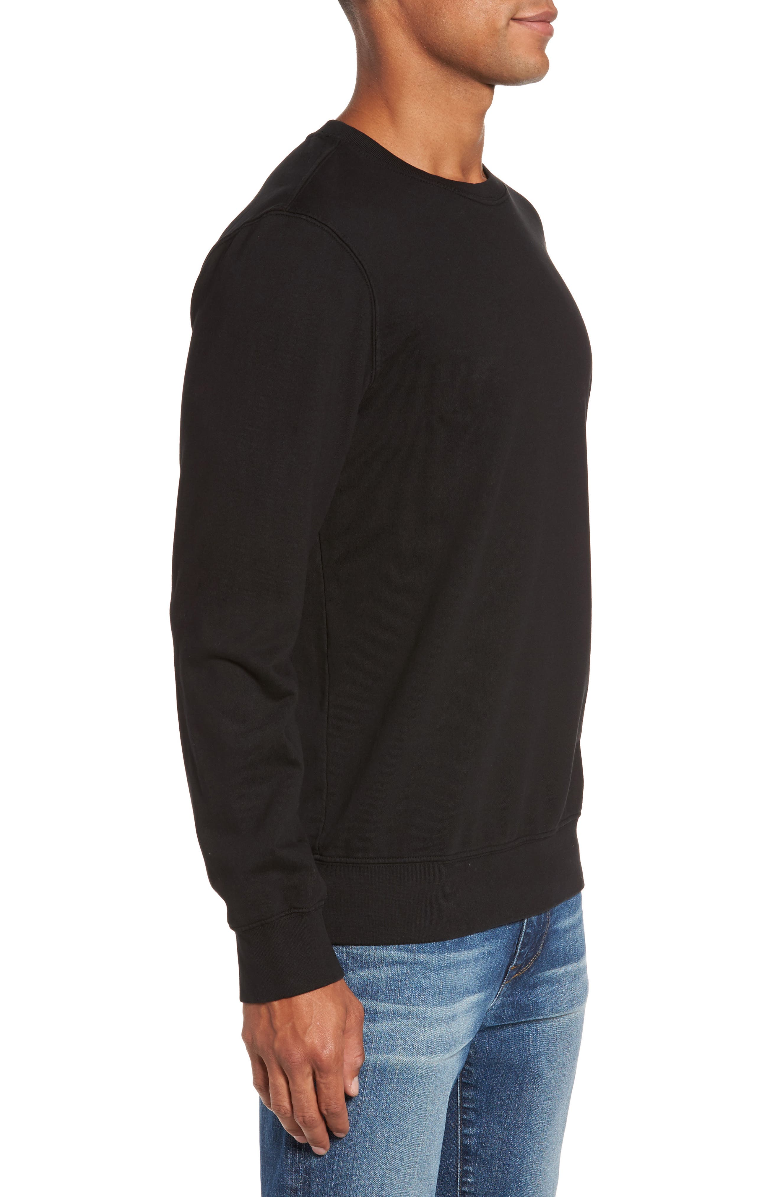 French Terry Sweatshirt,                             Alternate thumbnail 3, color,                             001