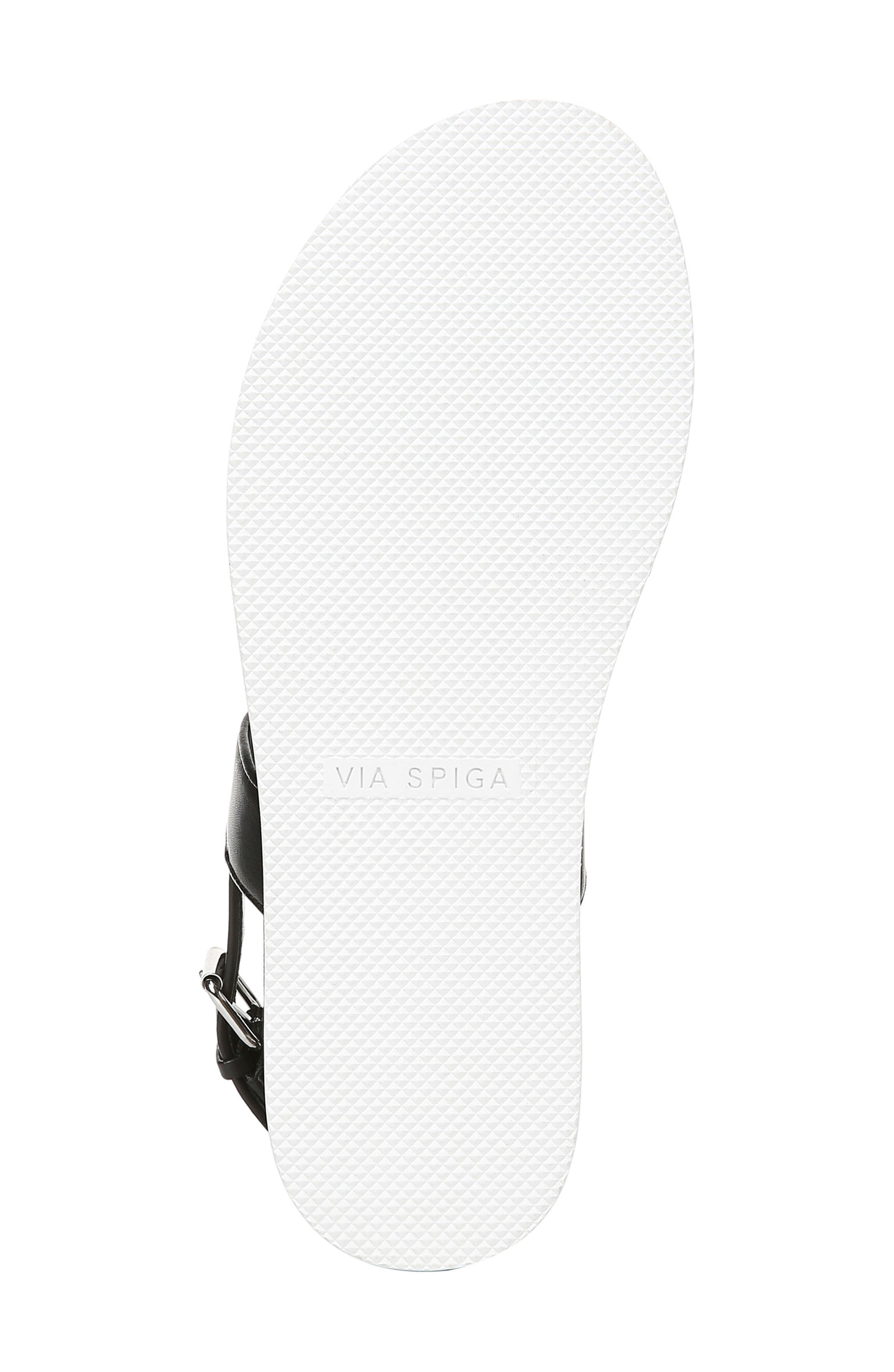 VIA SPIGA,                             Davi Platform Sandal,                             Alternate thumbnail 6, color,                             BLACK