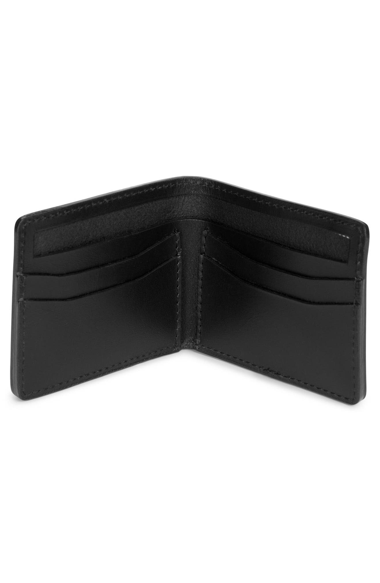 Vincent Saddle Leather Wallet,                             Alternate thumbnail 3, color,                             001