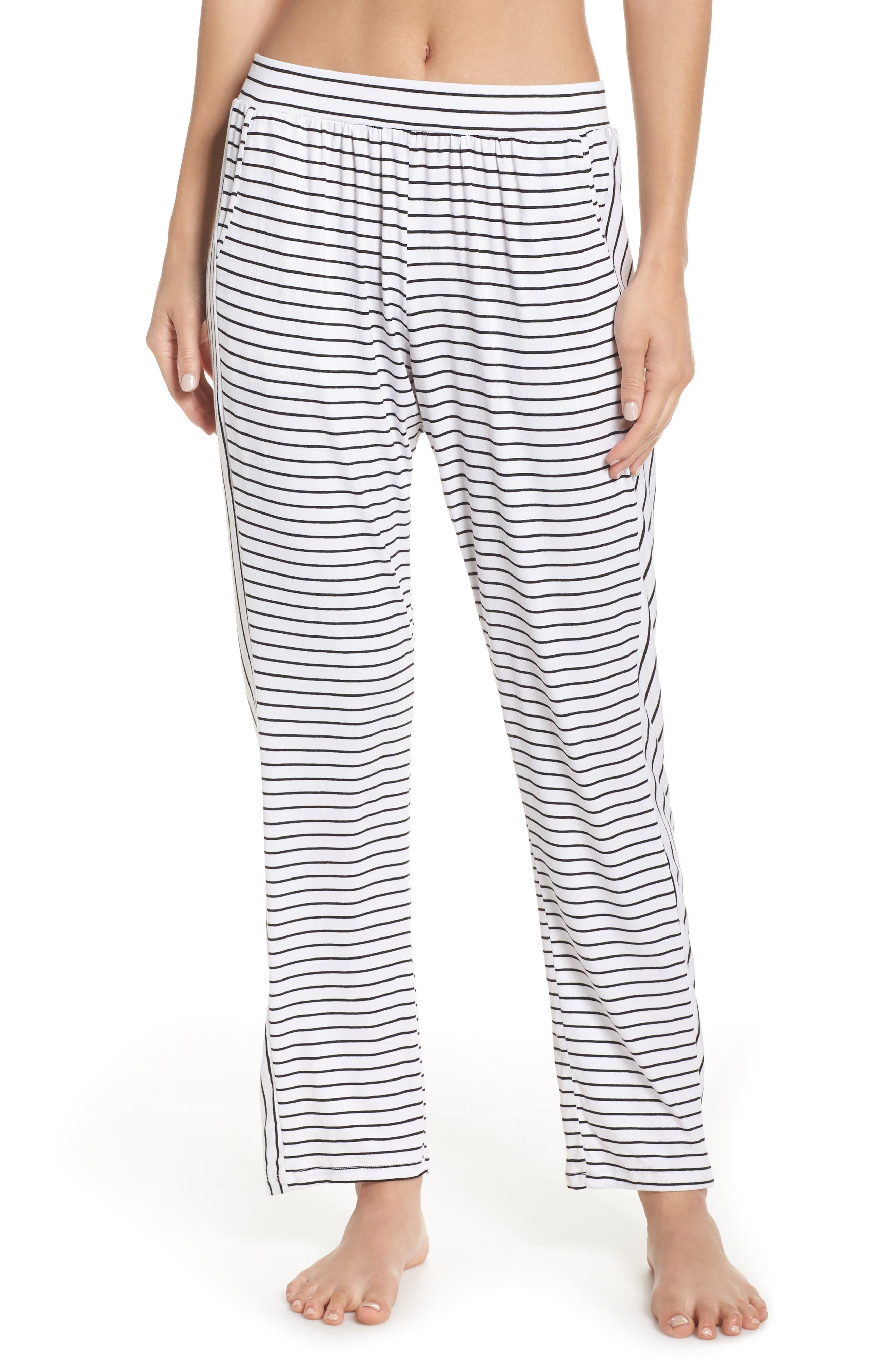 Eberjey Vega Not So Basic Pajama Pants, Ivory