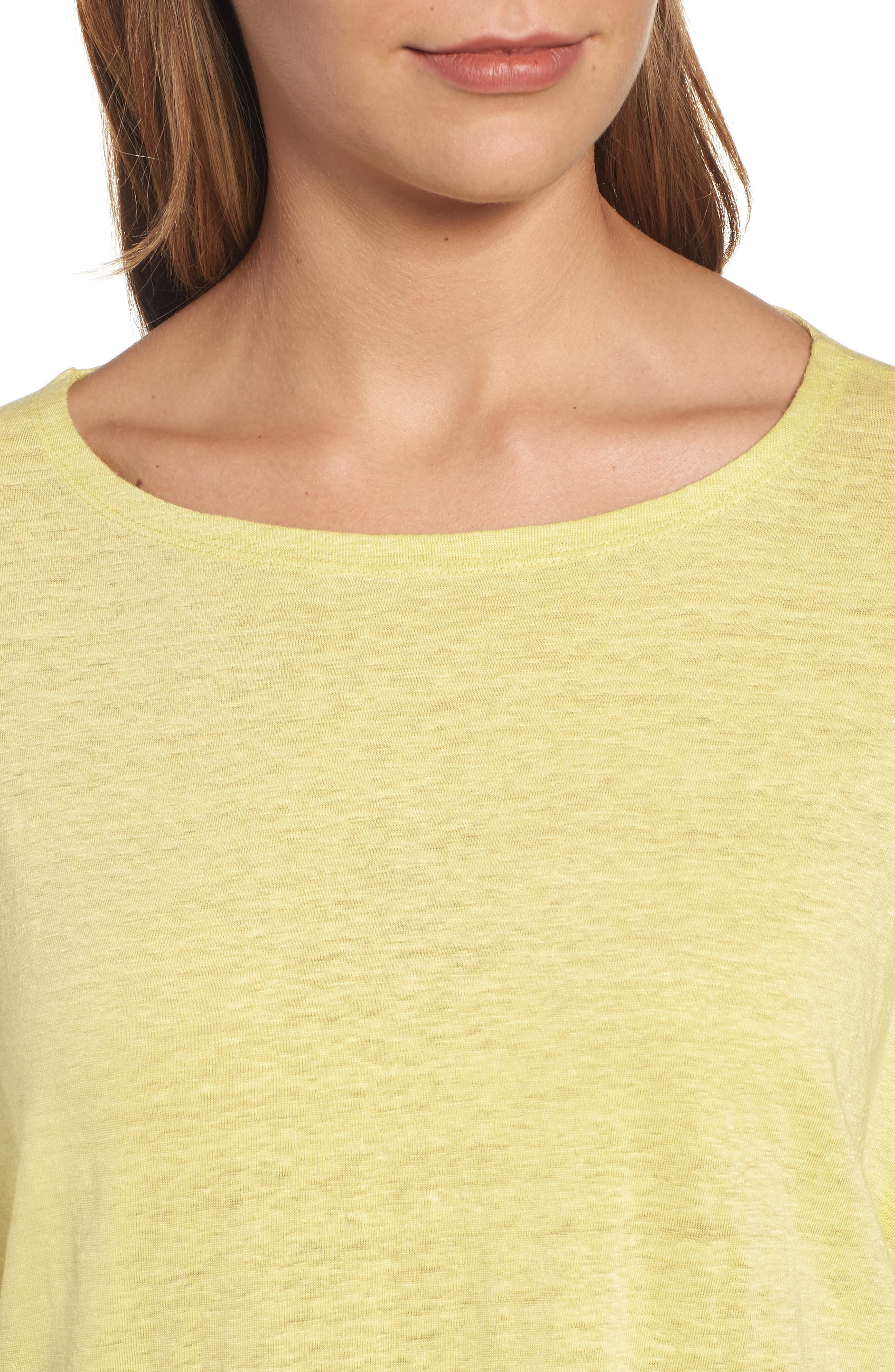 Organic Linen Jersey Boxy Top,                             Alternate thumbnail 28, color,