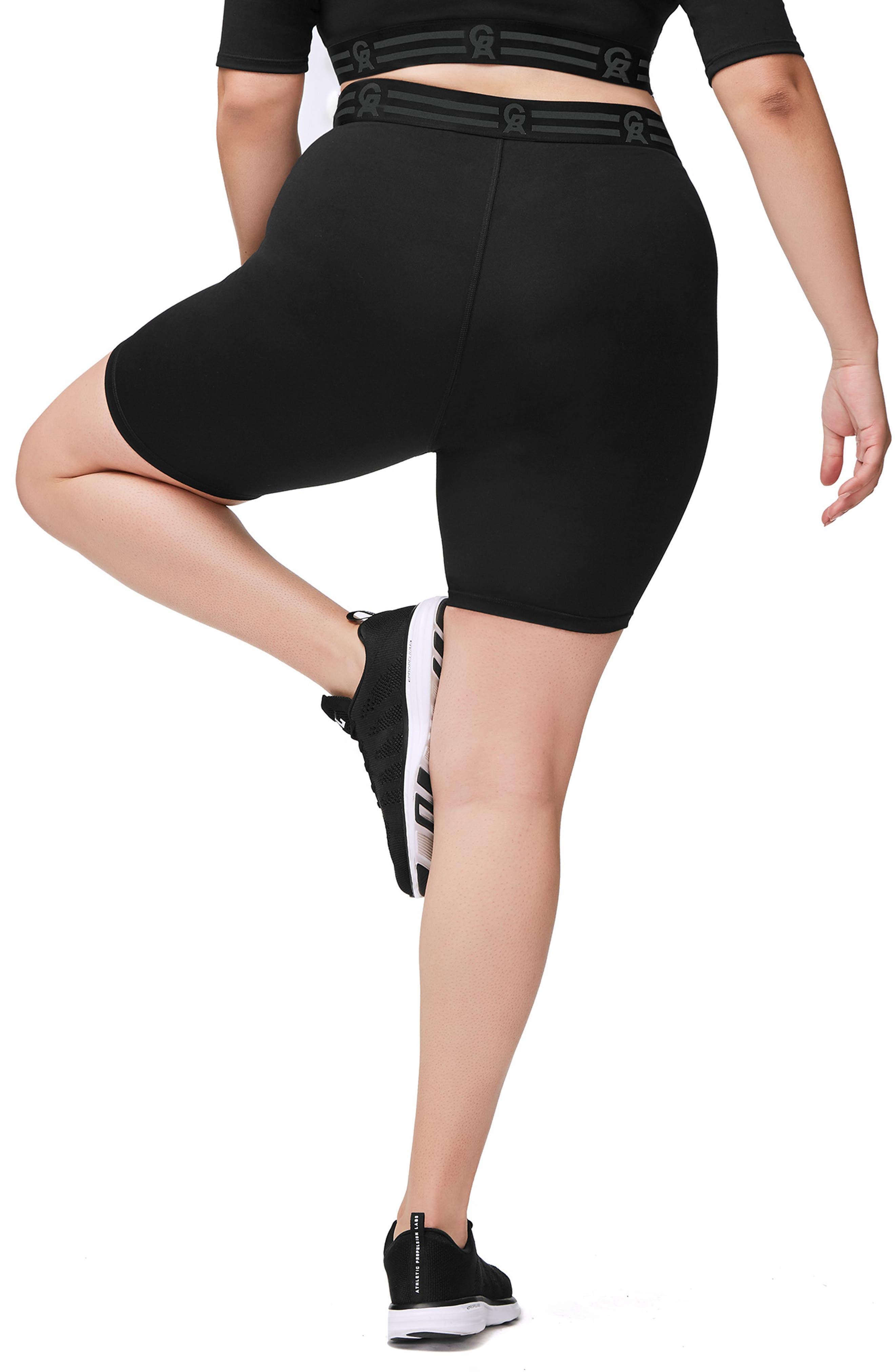 Icon High Waist Biker Shorts,                             Alternate thumbnail 6, color,                             BLACK001