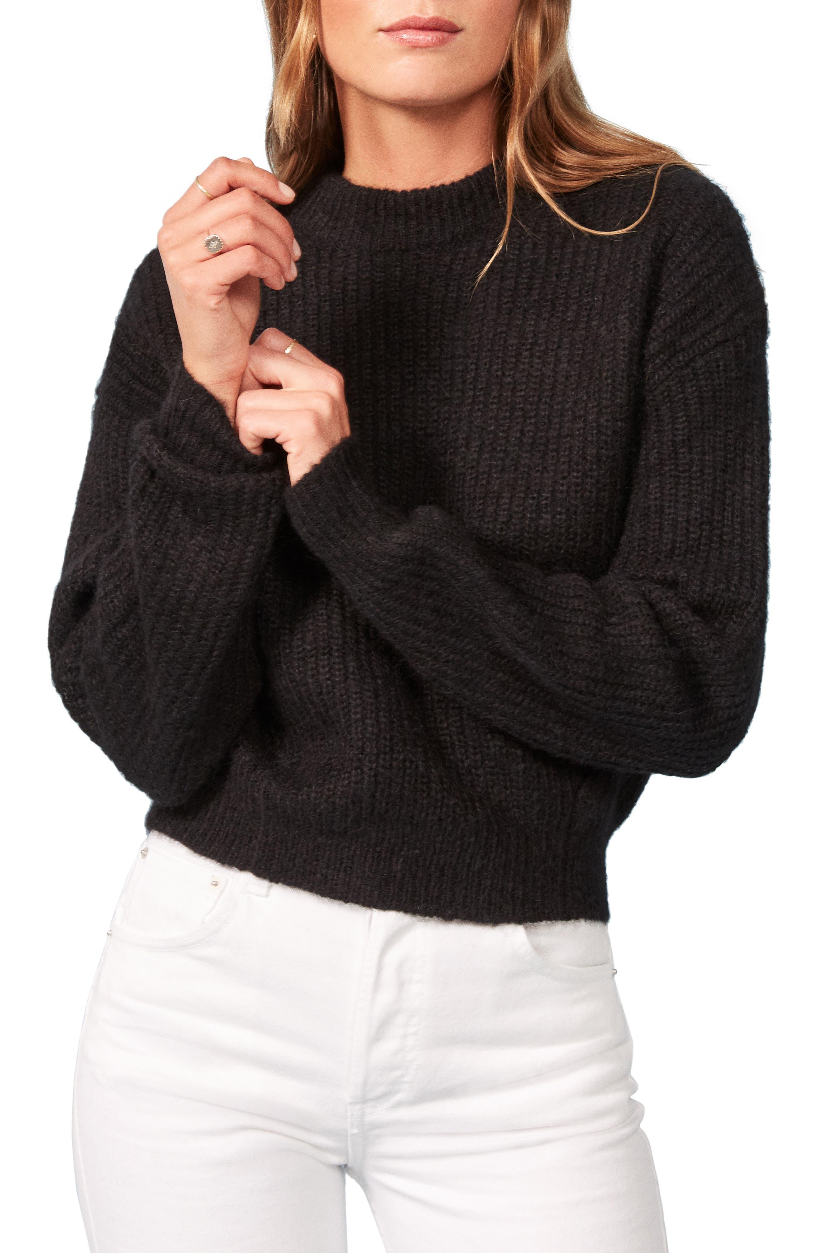 Finn Sweater,                         Main,                         color, BLACK