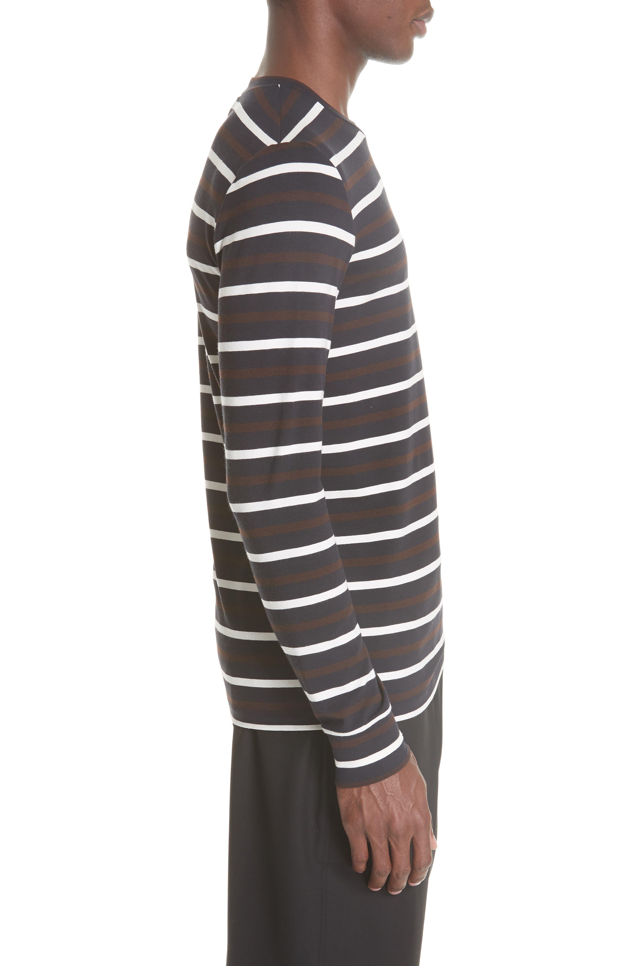 Technical Stripe Long Sleeve T-Shirt,                             Alternate thumbnail 3, color,                             200