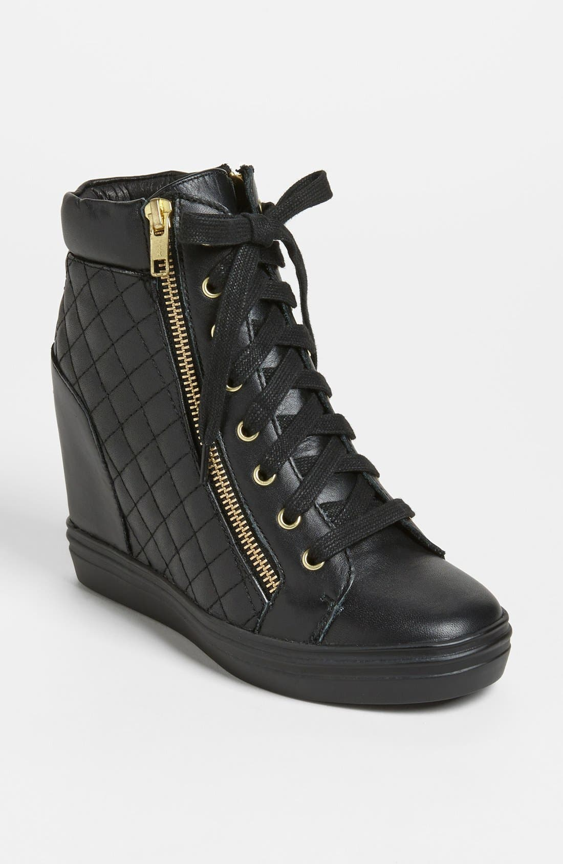 'Zipps' Wedge Sneaker,                         Main,                         color, 001