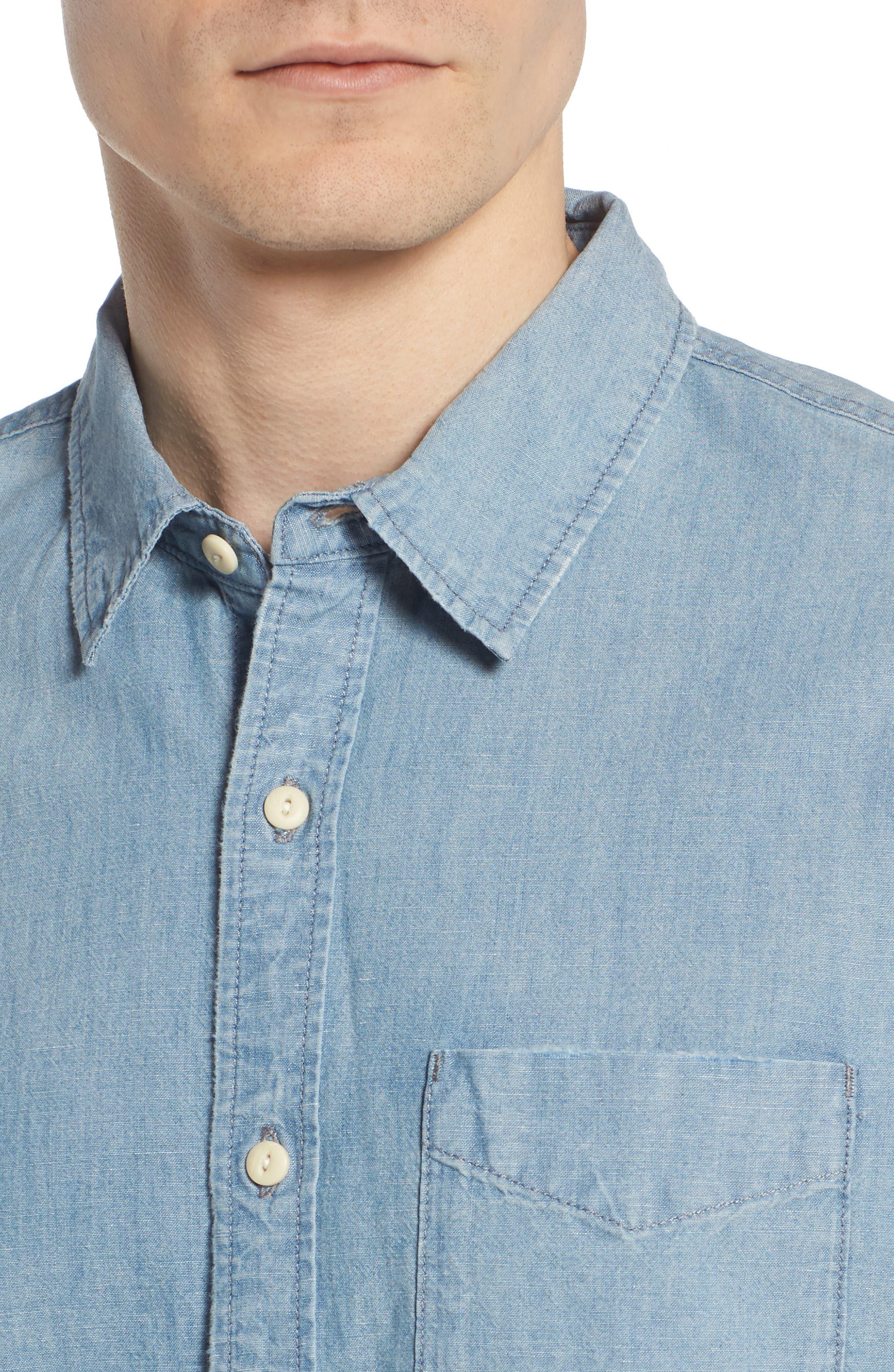 Pearson Regular Fit Short Sleeve Sport Shirt,                             Alternate thumbnail 4, color,                             400
