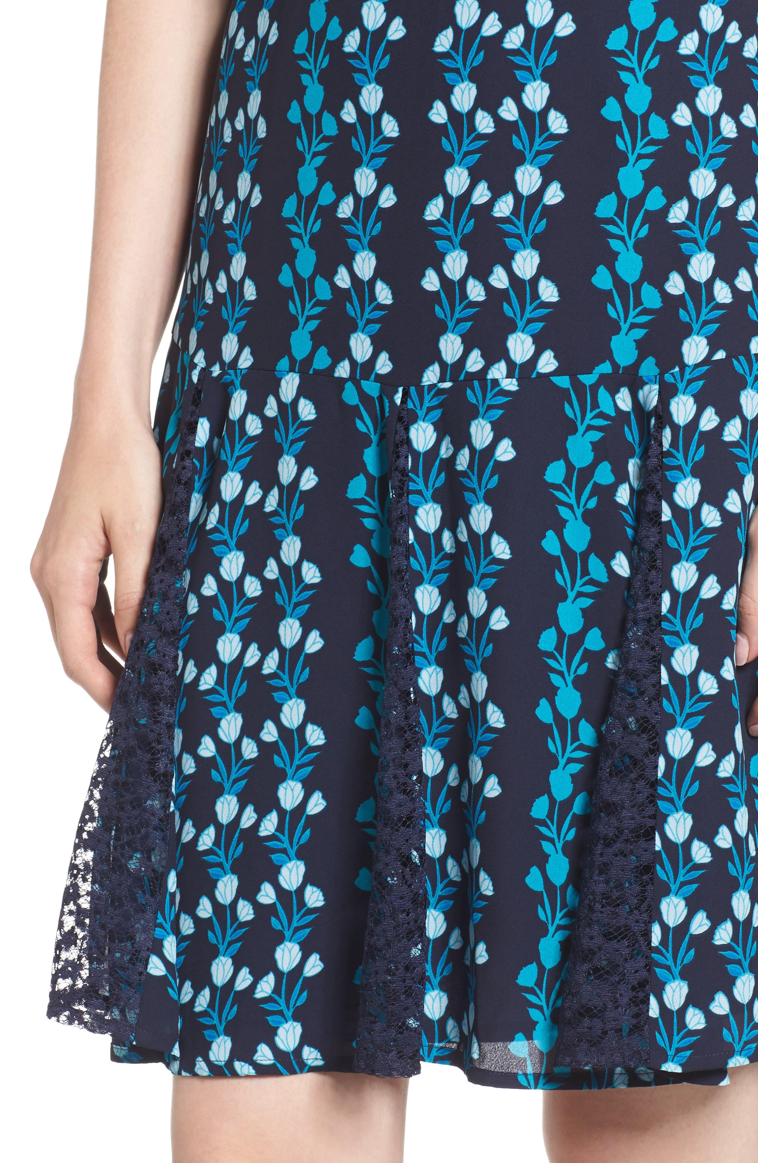 Meadow Vines Lace Dress,                             Alternate thumbnail 4, color,