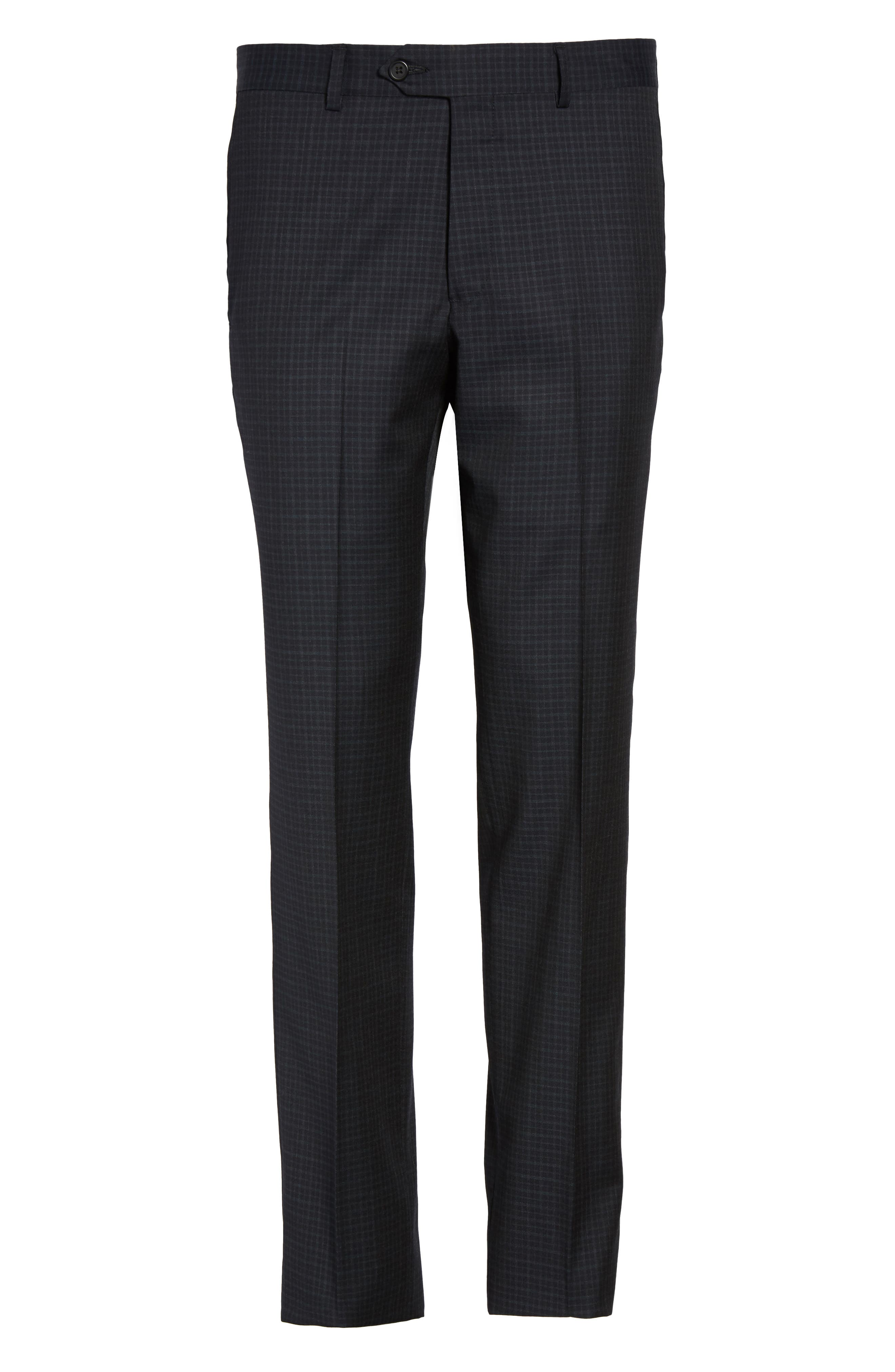 Flat Front Wool Trousers,                             Alternate thumbnail 12, color,