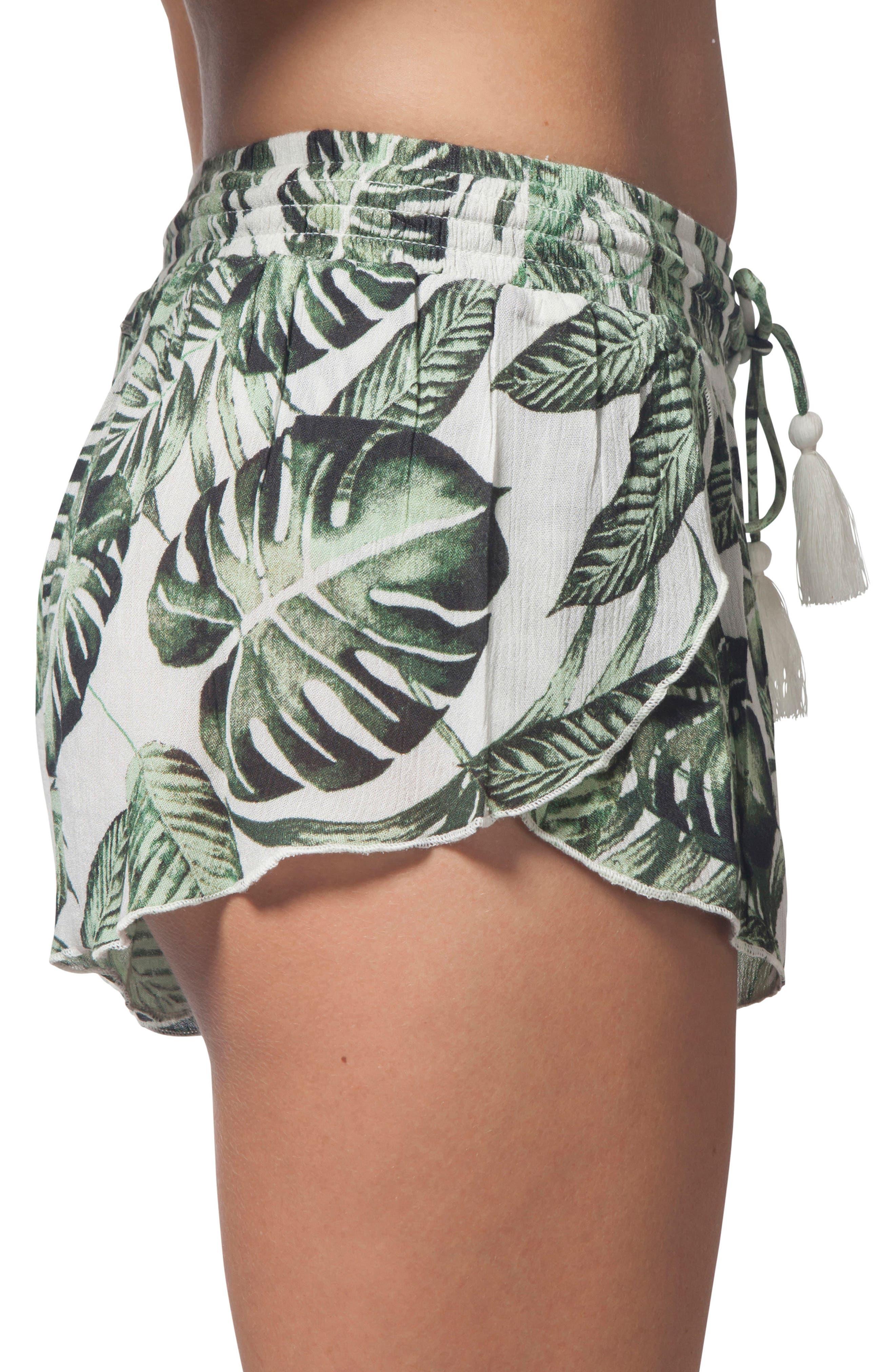 Palm Beach Print Shorts,                             Alternate thumbnail 3, color,                             100