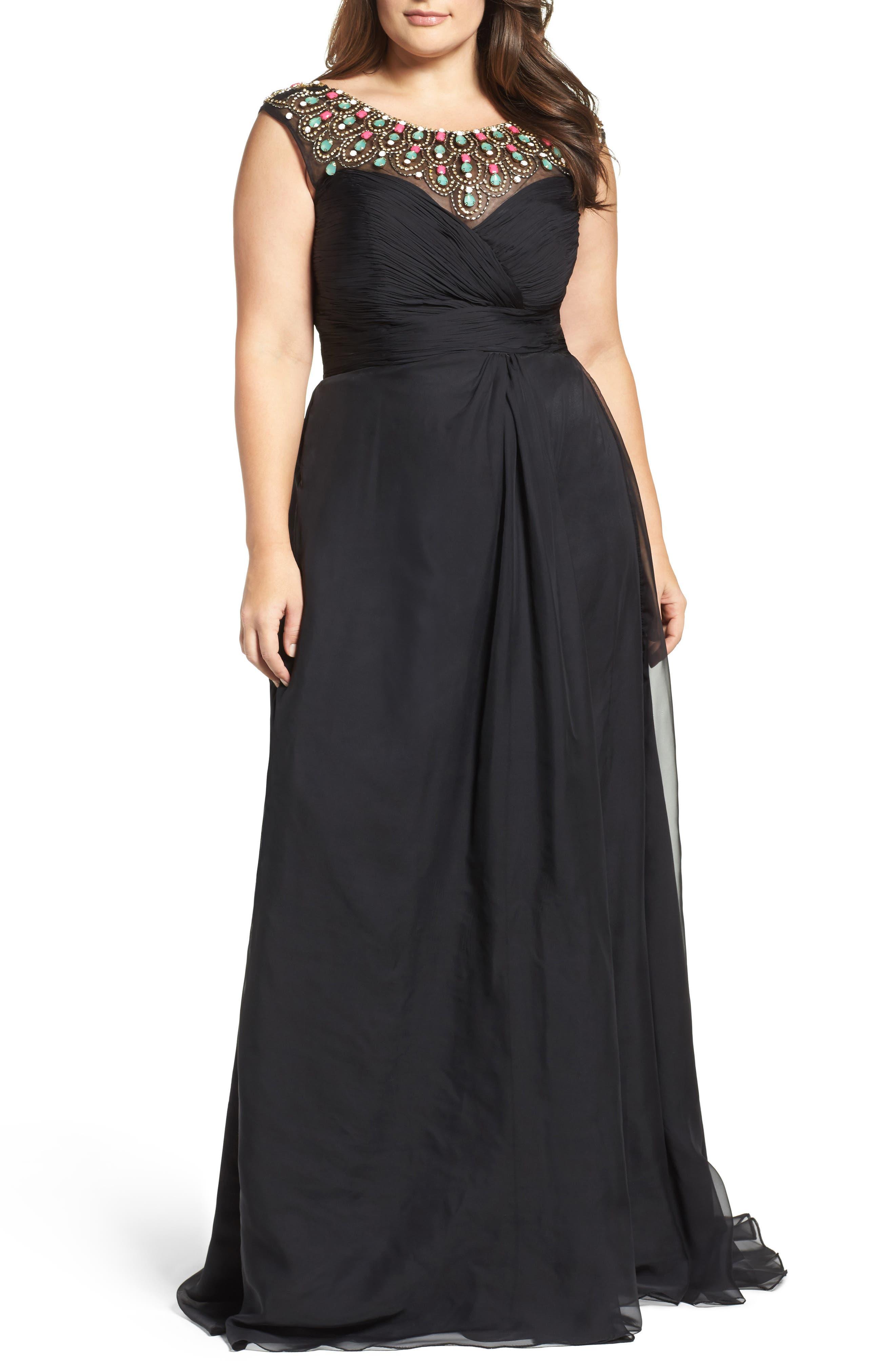 Embellished Goddess Gown,                         Main,                         color, 001