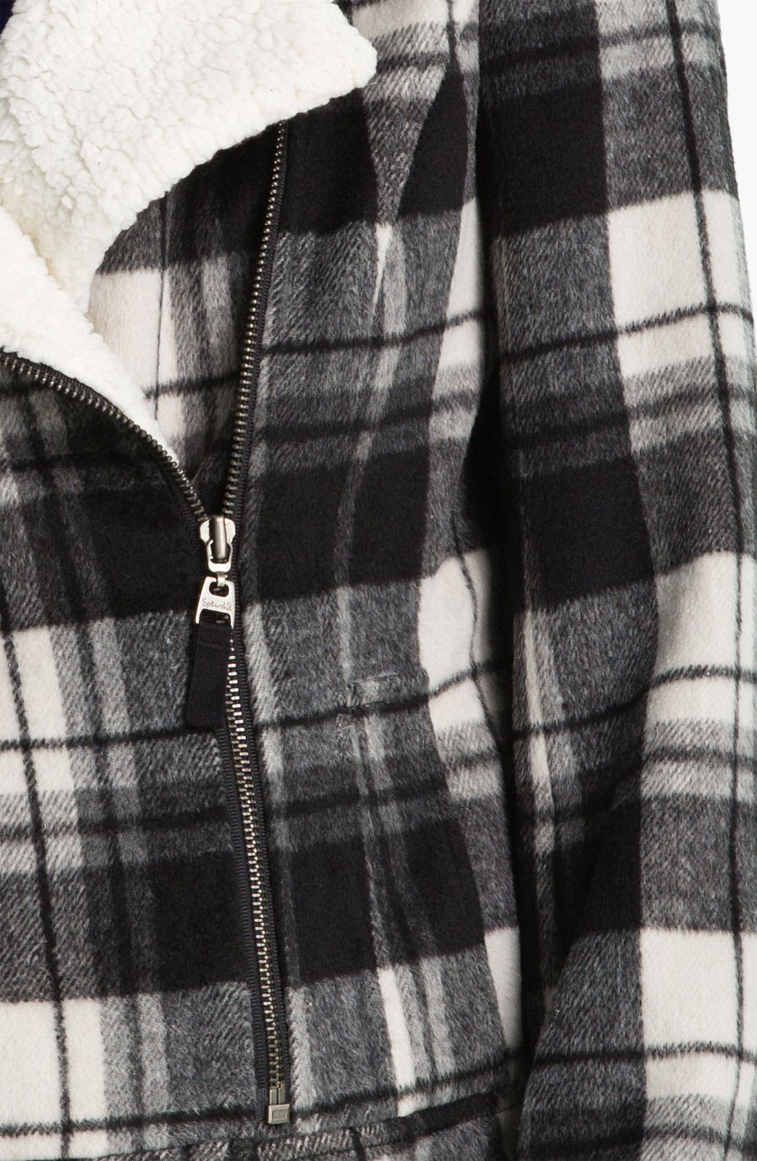 Buffalo Plaid Moto Jacket,                             Alternate thumbnail 2, color,                             001