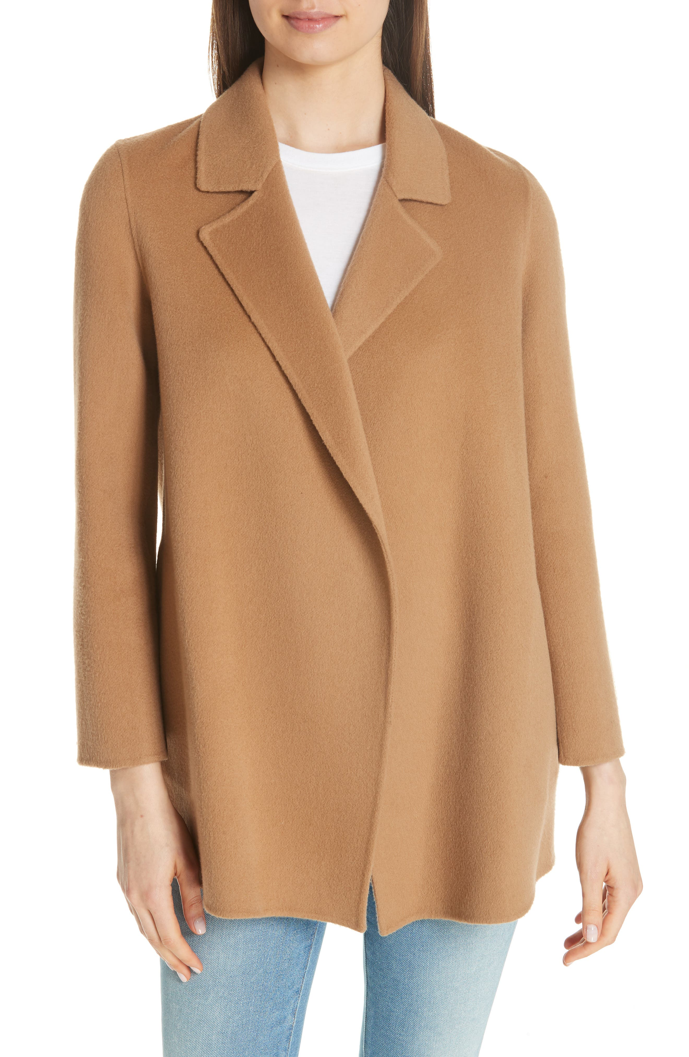 THEORY Clairene New Divide Wool & Cashmere Coat, Main, color, 218