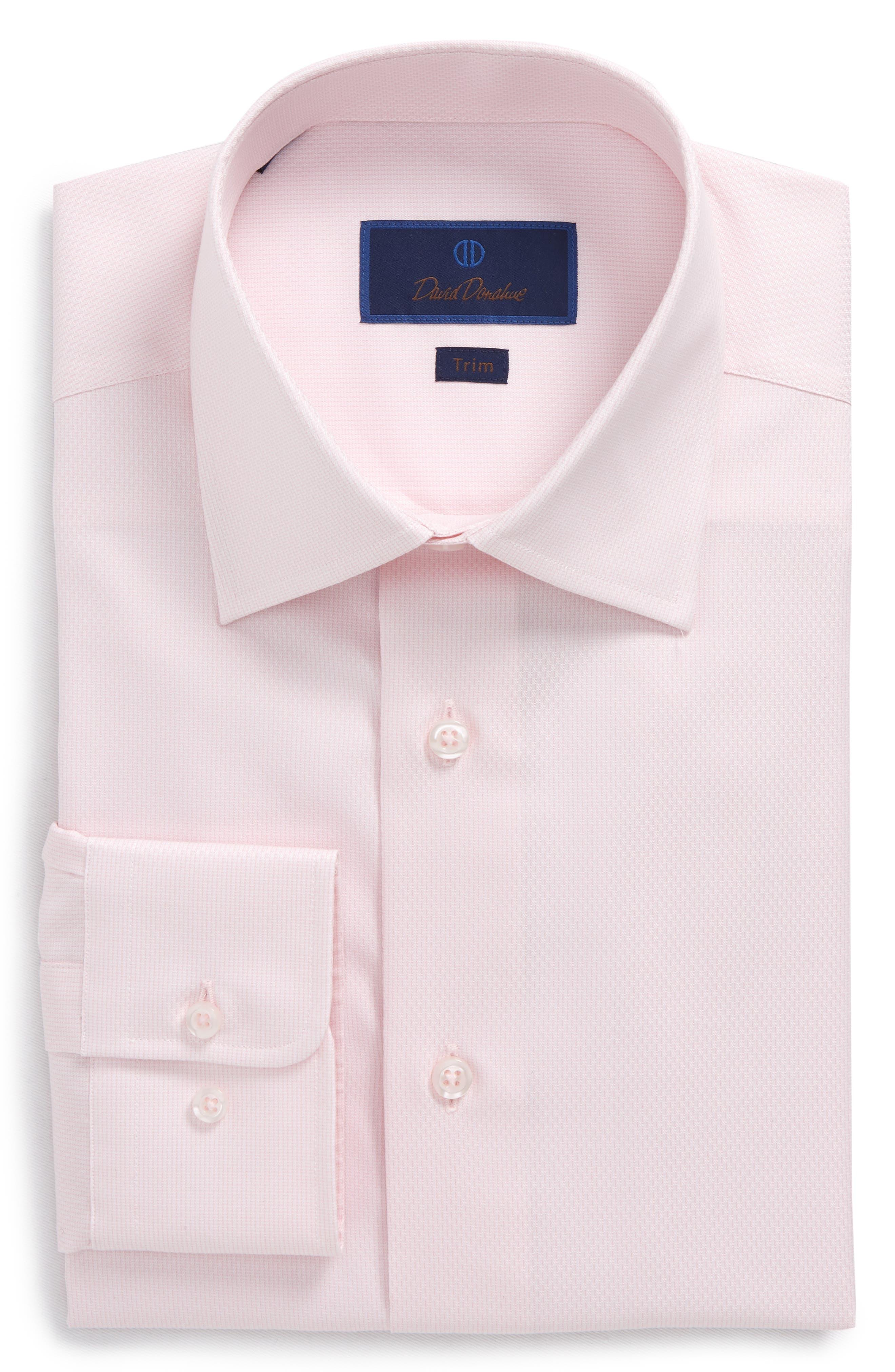 Trim Fit Solid Dress Shirt,                             Main thumbnail 3, color,