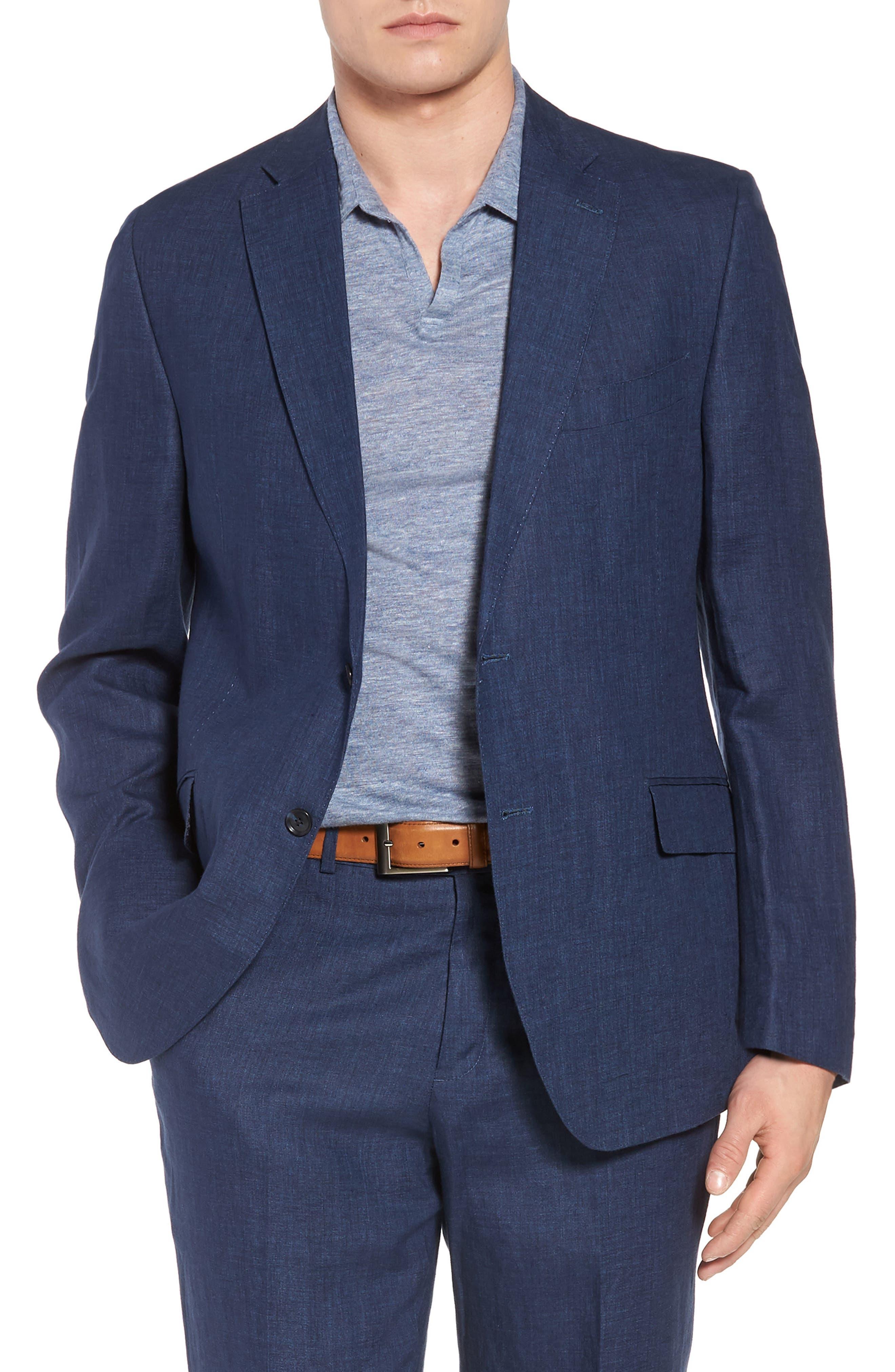 Jack AIM Classic Fit Linen Blazer,                         Main,                         color, NAVY