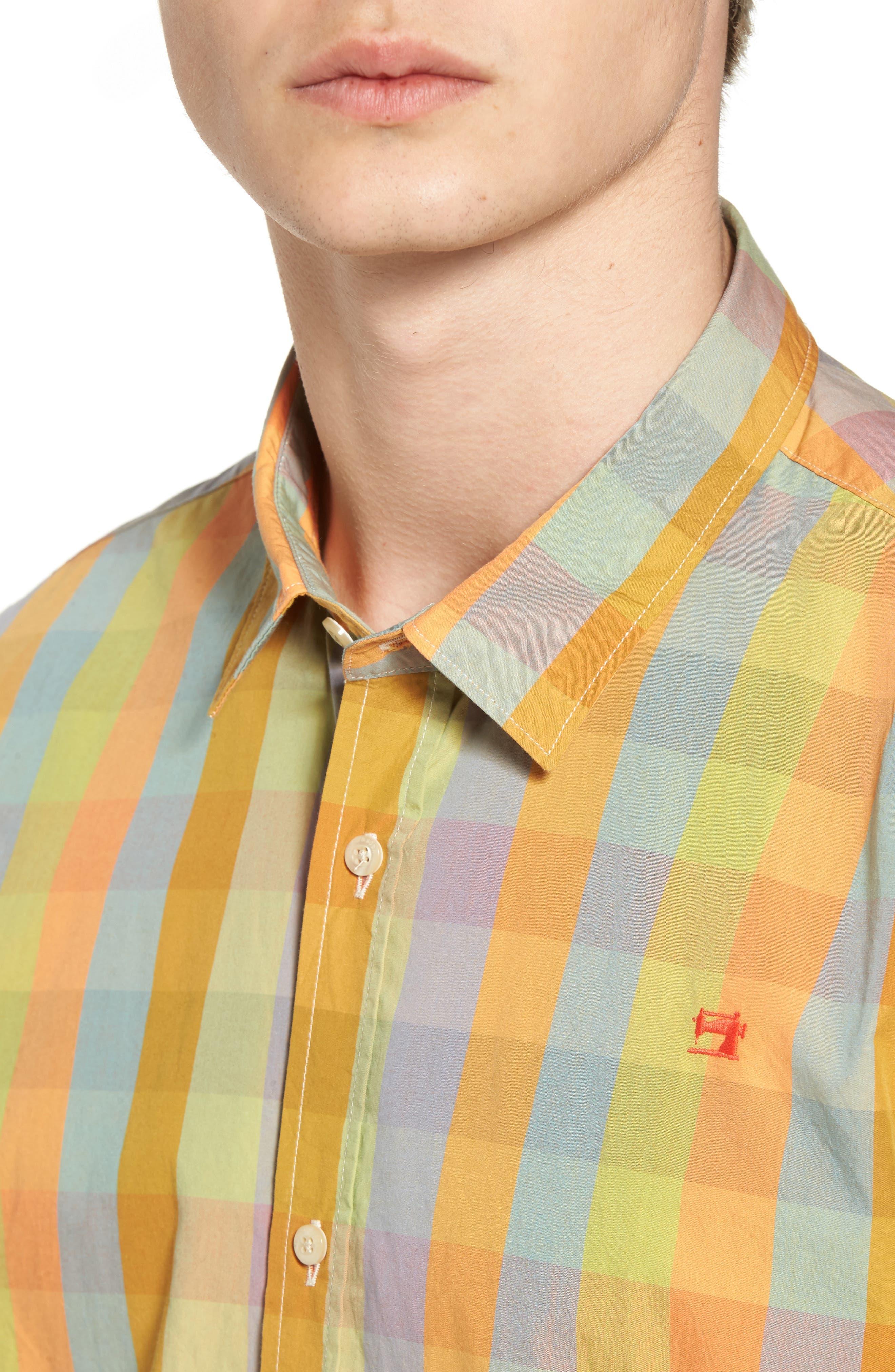 Slim Fit Poplin Shirt,                             Alternate thumbnail 4, color,                             400