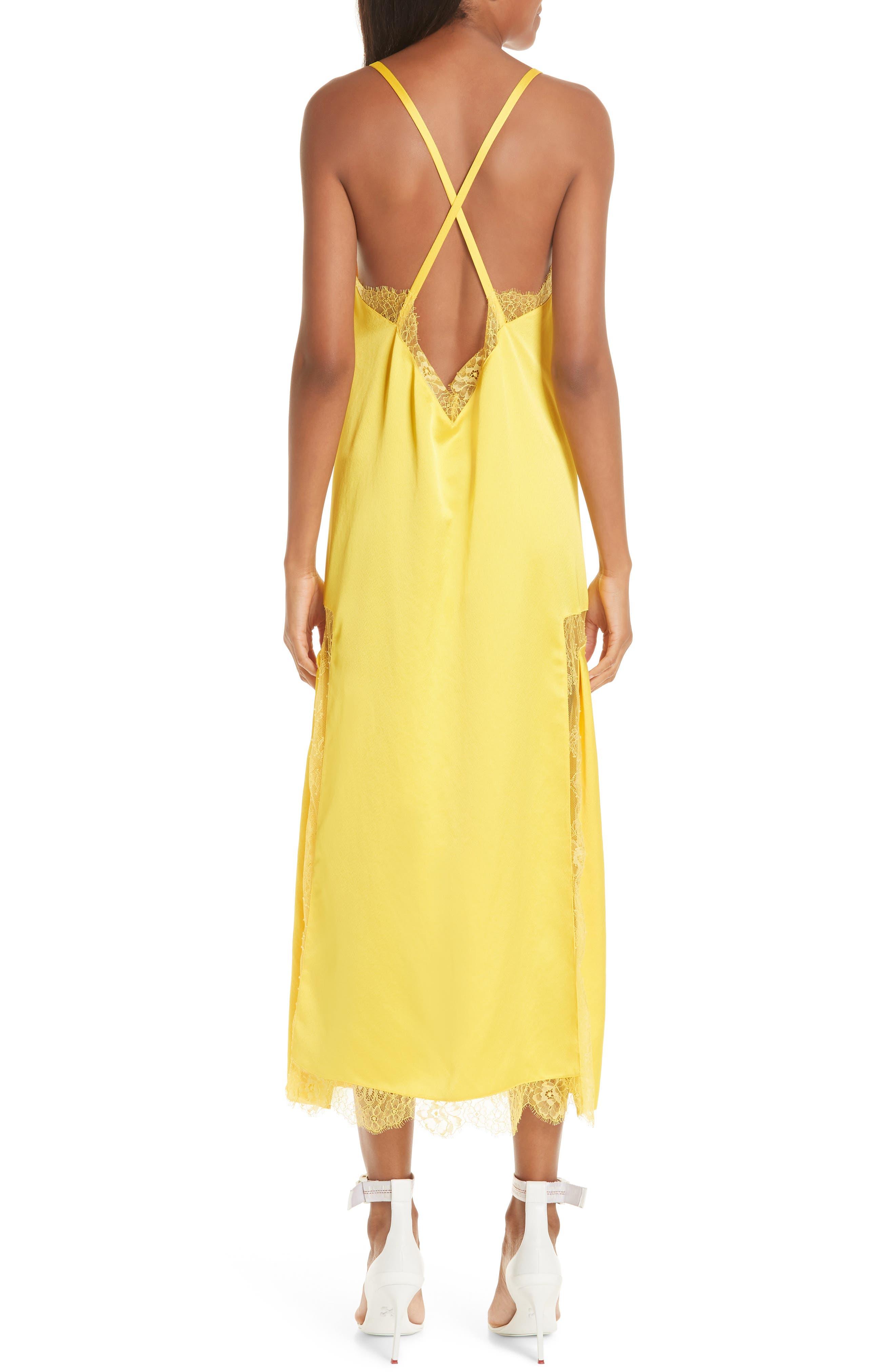Elsa Slip Dress,                             Alternate thumbnail 2, color,                             YELLOW NO COLOR