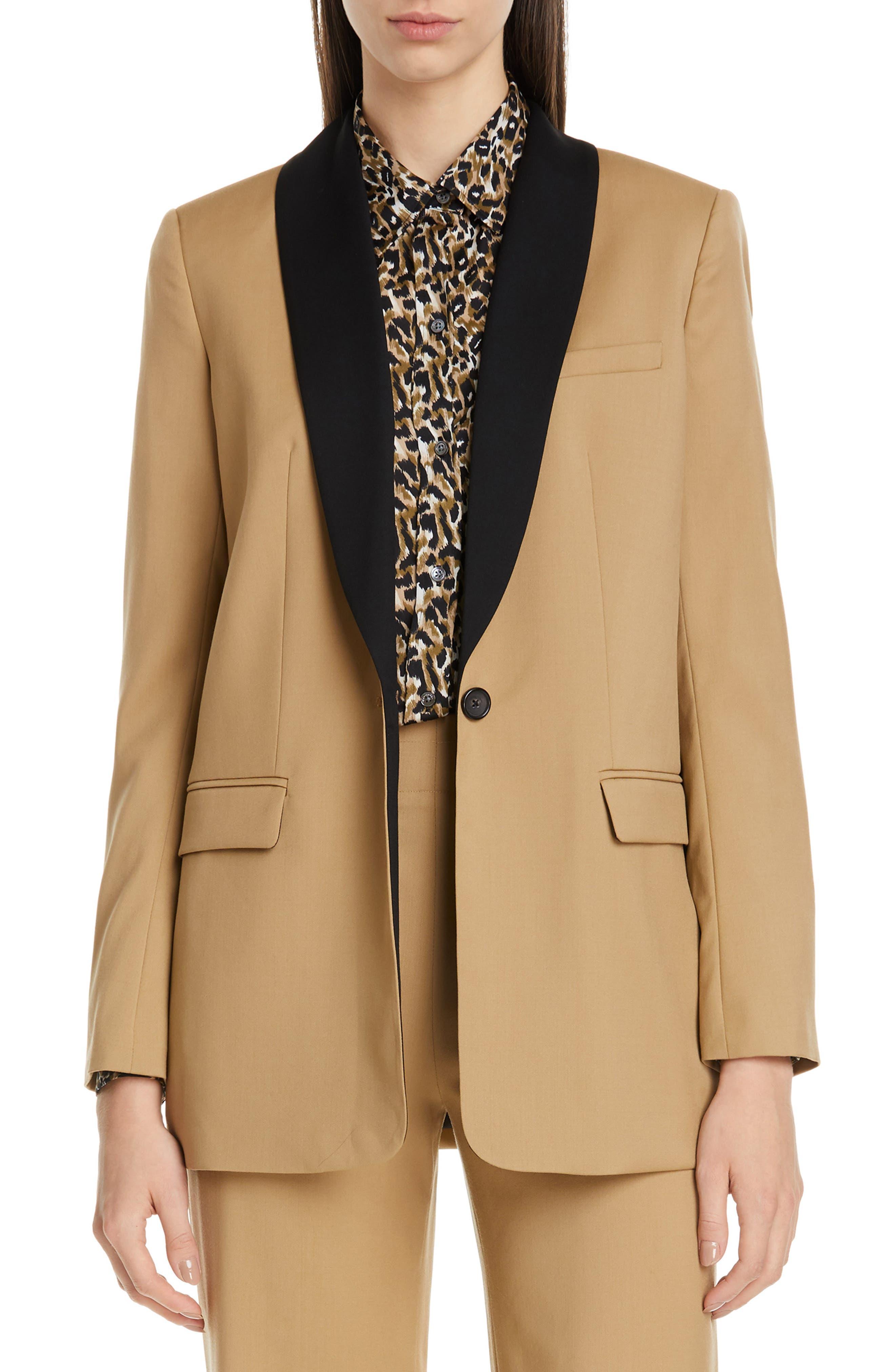EQUIPMENT Quincy Shawl Collar Blazer, Main, color, BOIS