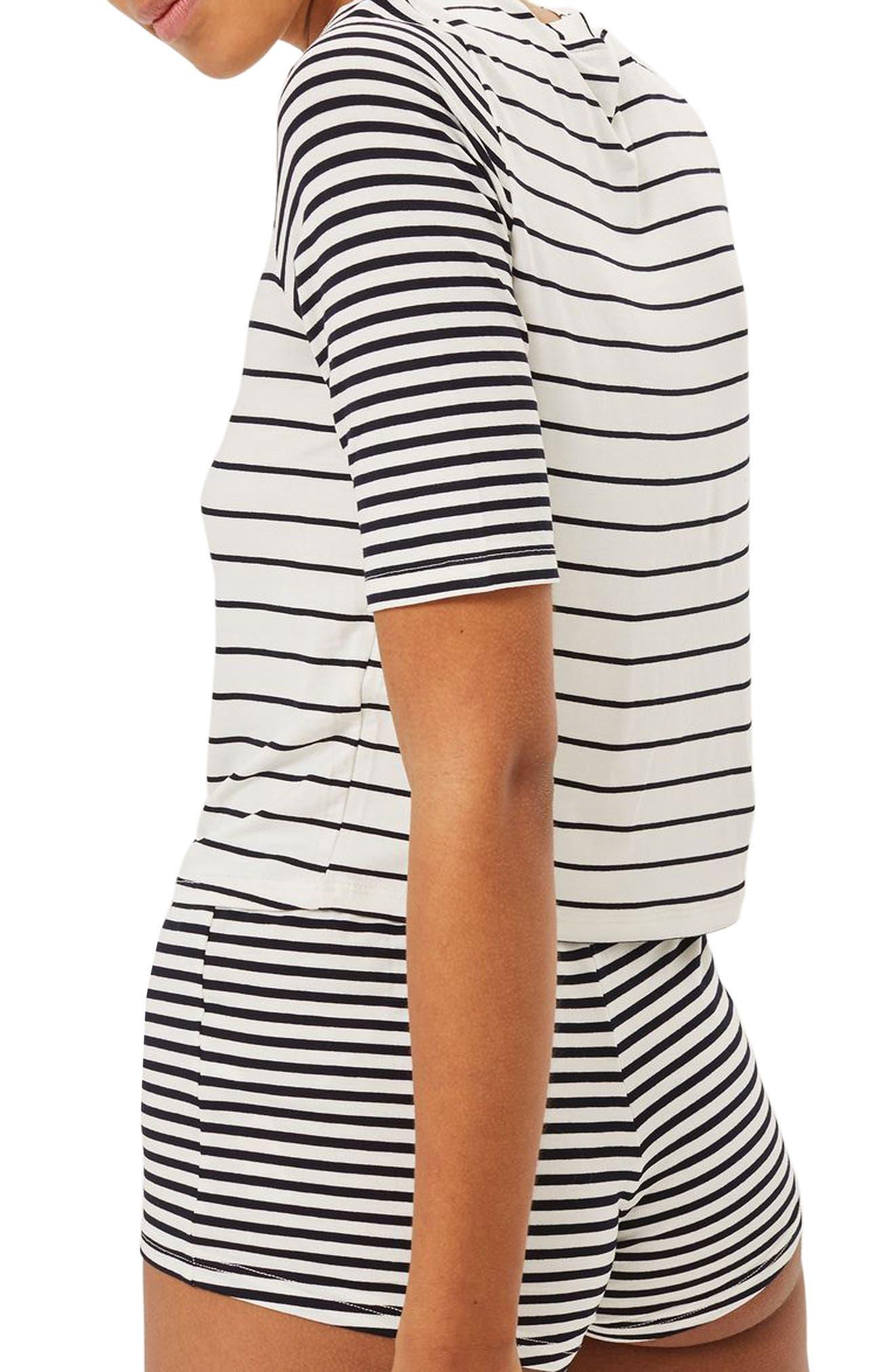 Harriet Contrast Stripe Pajamas,                             Alternate thumbnail 2, color,