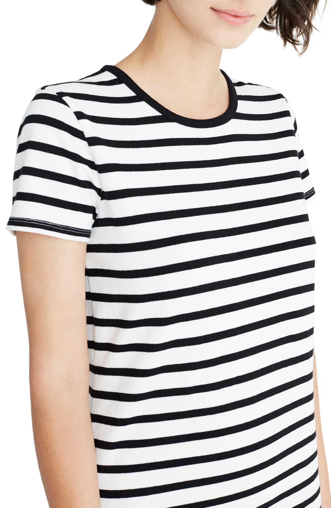 Stripe T-Shirt Dress,                             Alternate thumbnail 7, color,