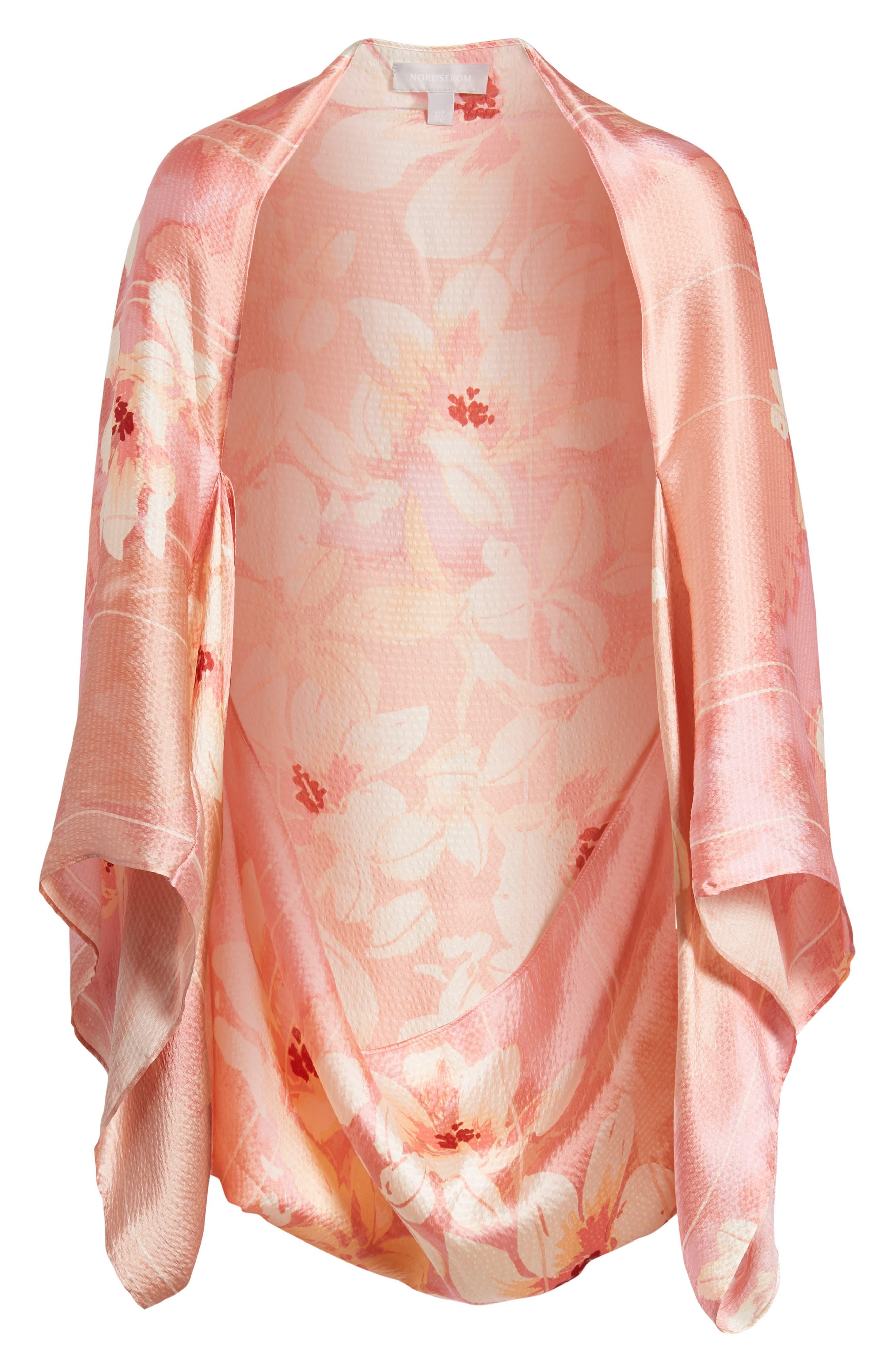 Silk Shrug Kimono,                             Alternate thumbnail 6, color,                             420