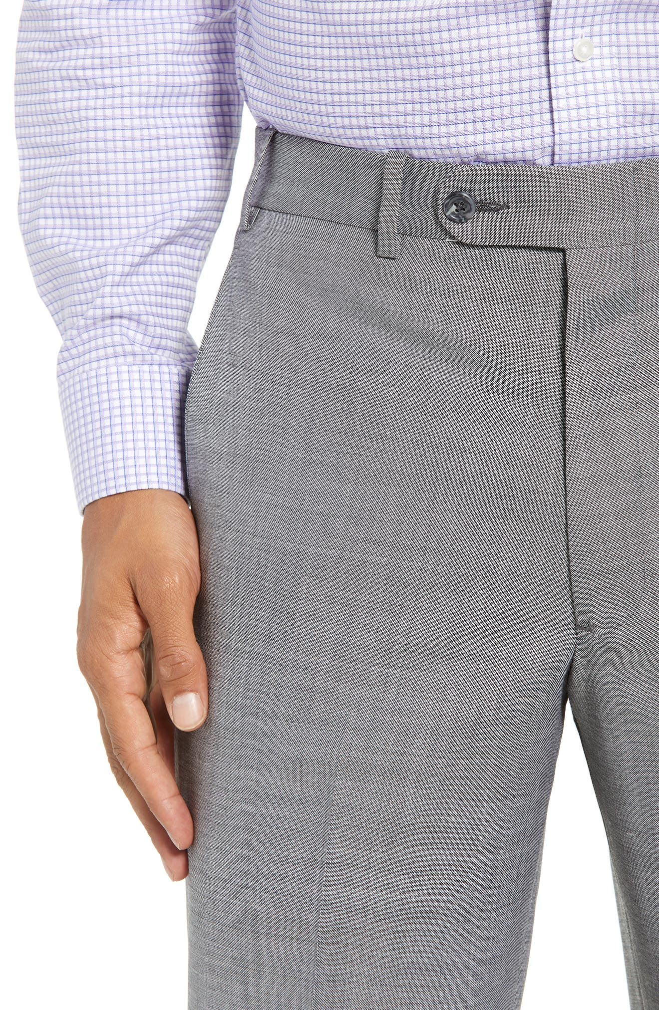 Torino Flat Front Solid Wool Trousers,                             Alternate thumbnail 11, color,