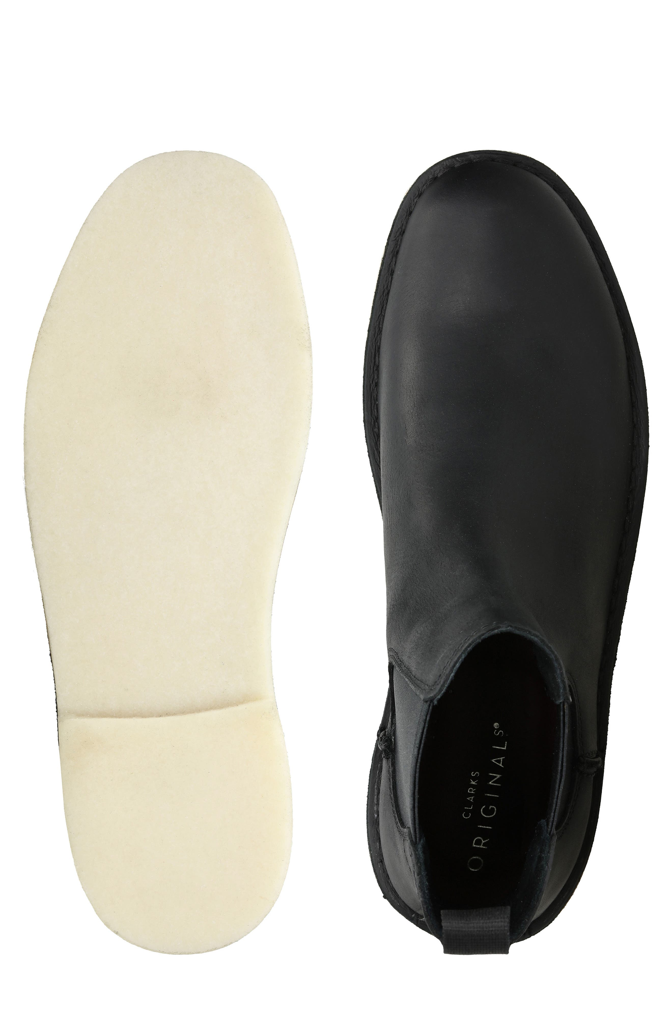 Desert Peak Chelsea Boot,                             Alternate thumbnail 7, color,                             BLACK/BLACK LEATHER