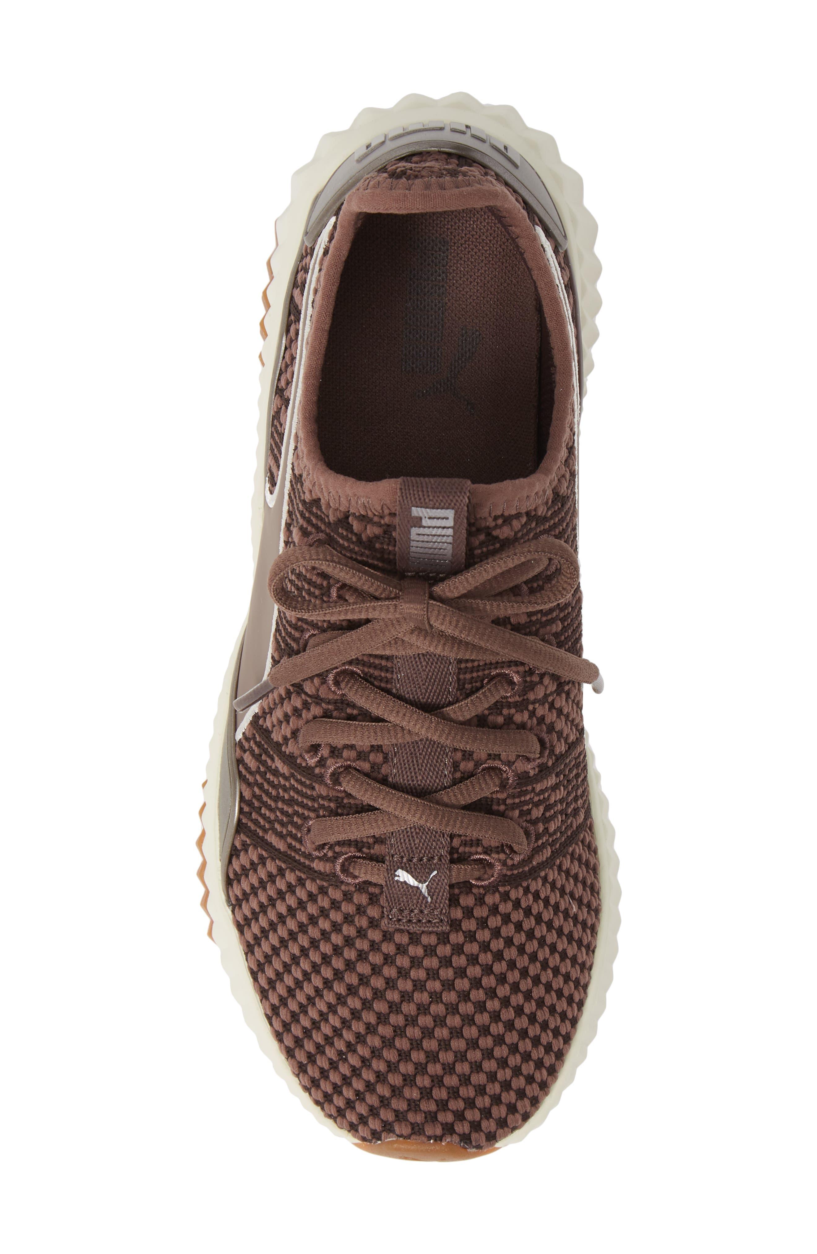 PUMA,                             Defy Luxe Sneaker,                             Alternate thumbnail 5, color,                             PEPPERCORN/ METALLIC ASH